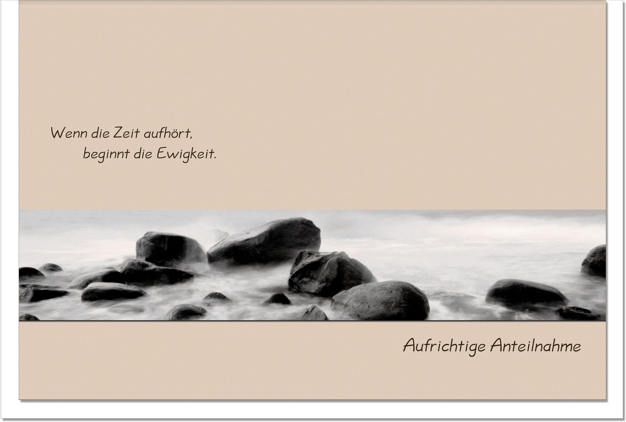 Trauerkarte BEGINN DER EWIGKEIT | Felsen | metALUm #00011