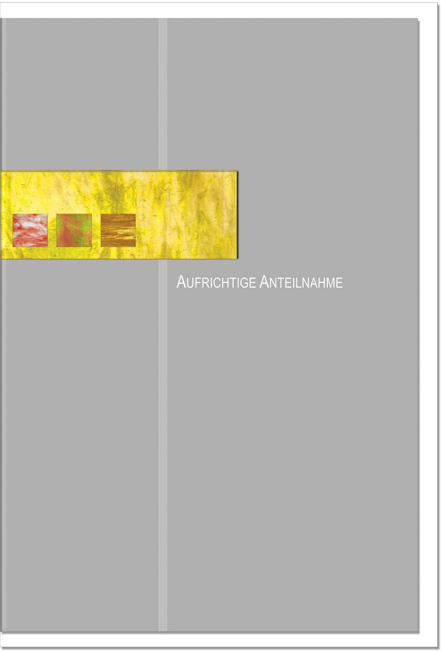 Trauerkarte ABSCHIED | mit edler Metall - Verzierung | metALUm #00023