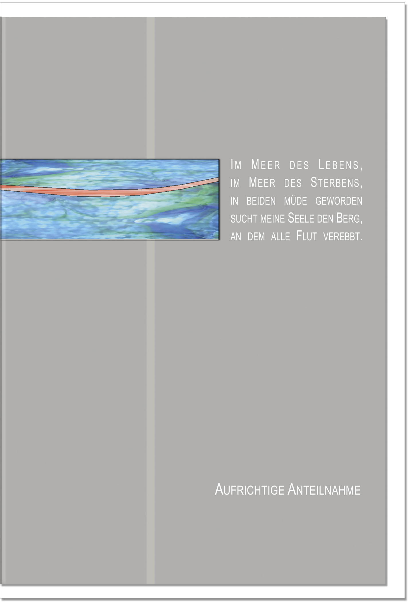 Trauerkarte FRIEDEN | mit edler Metall - Verzierung | metALUm #00025
