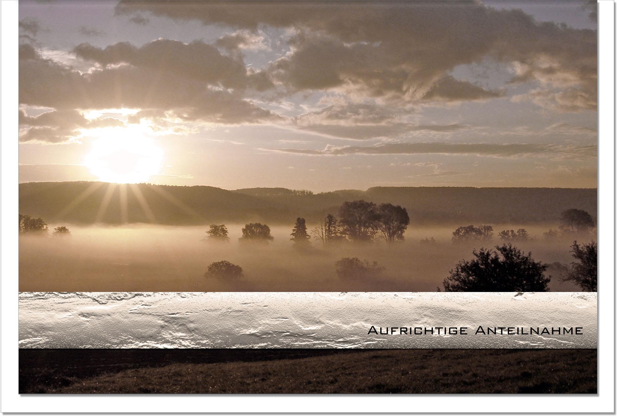Trauerkarte STILLE WEITE | Sonnenuntergang | metALUm #00030