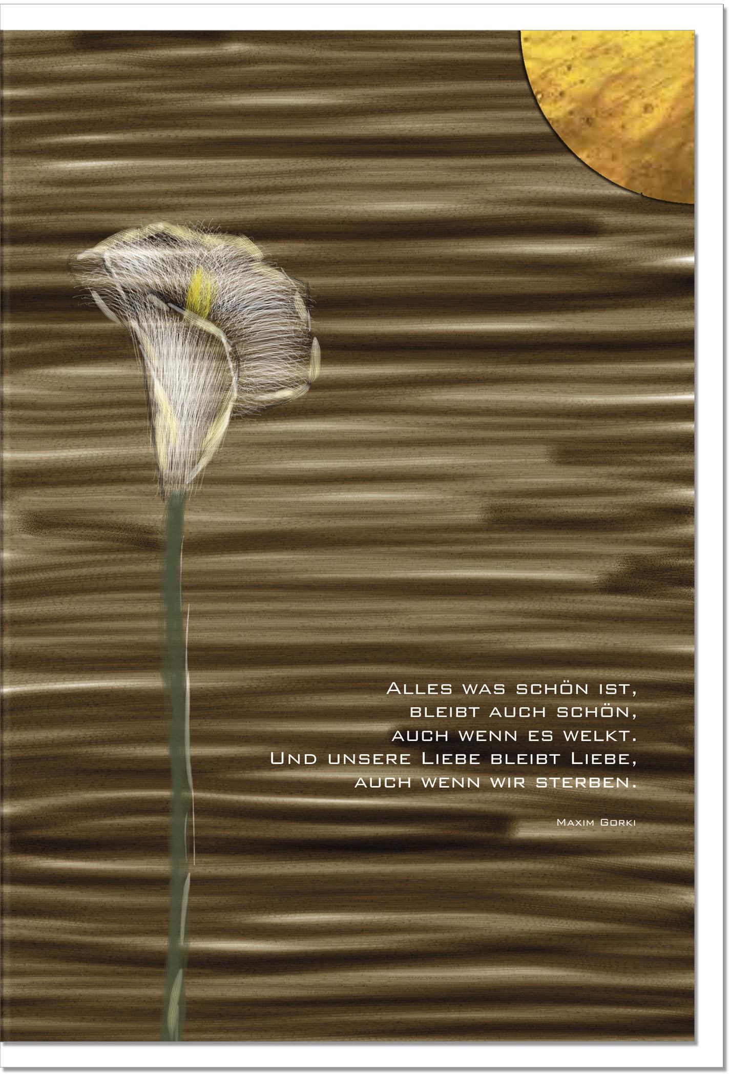 Trauerkarte DIE LIEBE BLEIBT | Callas | metALUm #00046