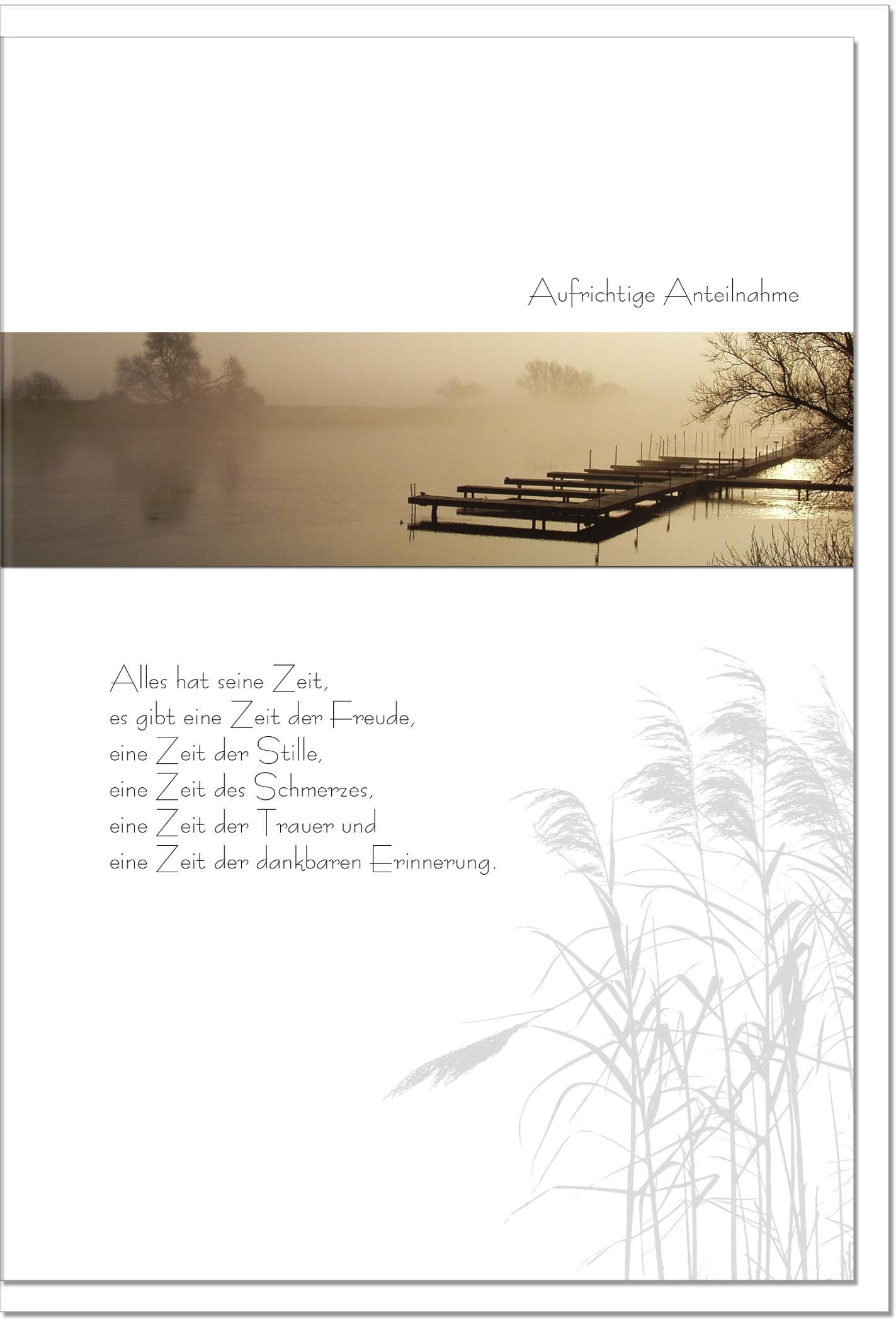Trauerkarte ALLES HAT SEINE ZEIT | Abendstimmung am See | metALUm #00088