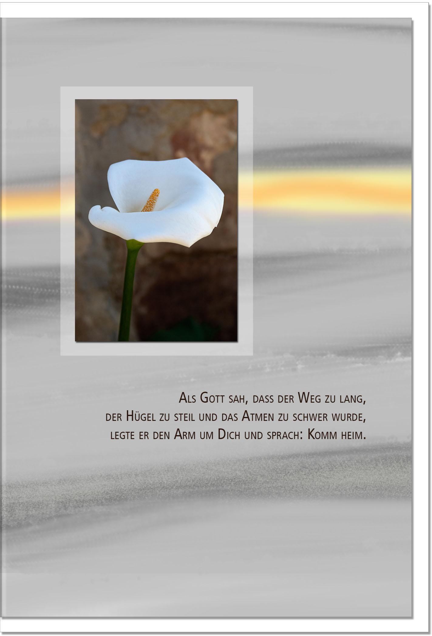 Trauerkarte ERLÖSUNG | Callas | metALUm #00093