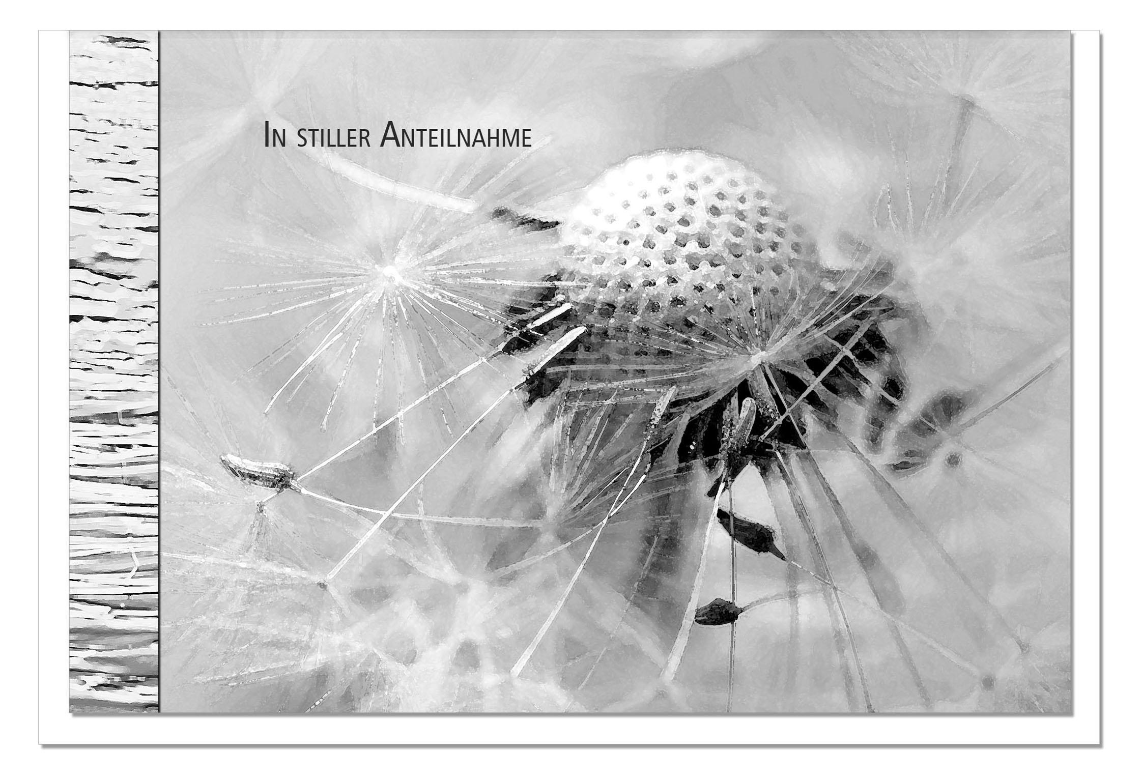 Beileidskarte VERWEHT | Pusteblume | metALUm #00102