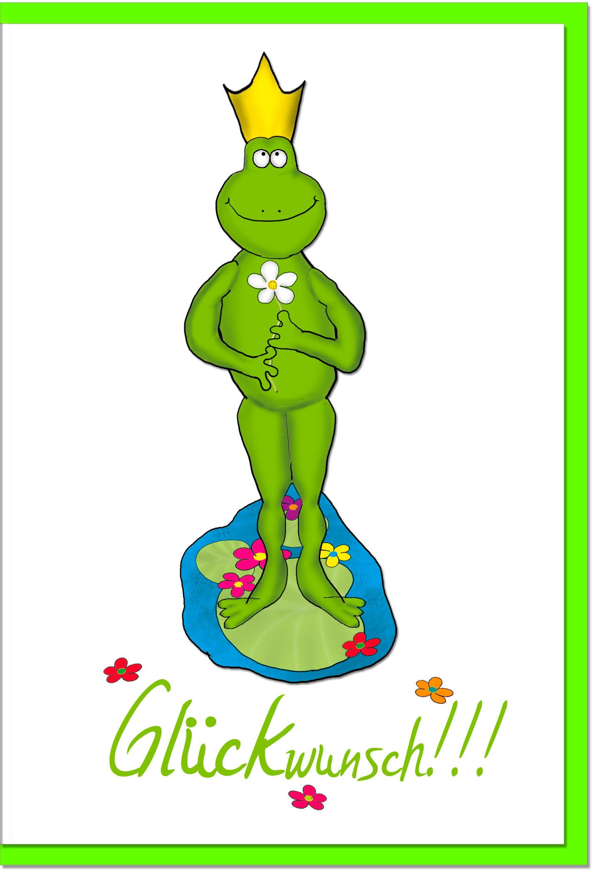 Glückwunschkarten / Grußkarten /Glückwunsch Frosch