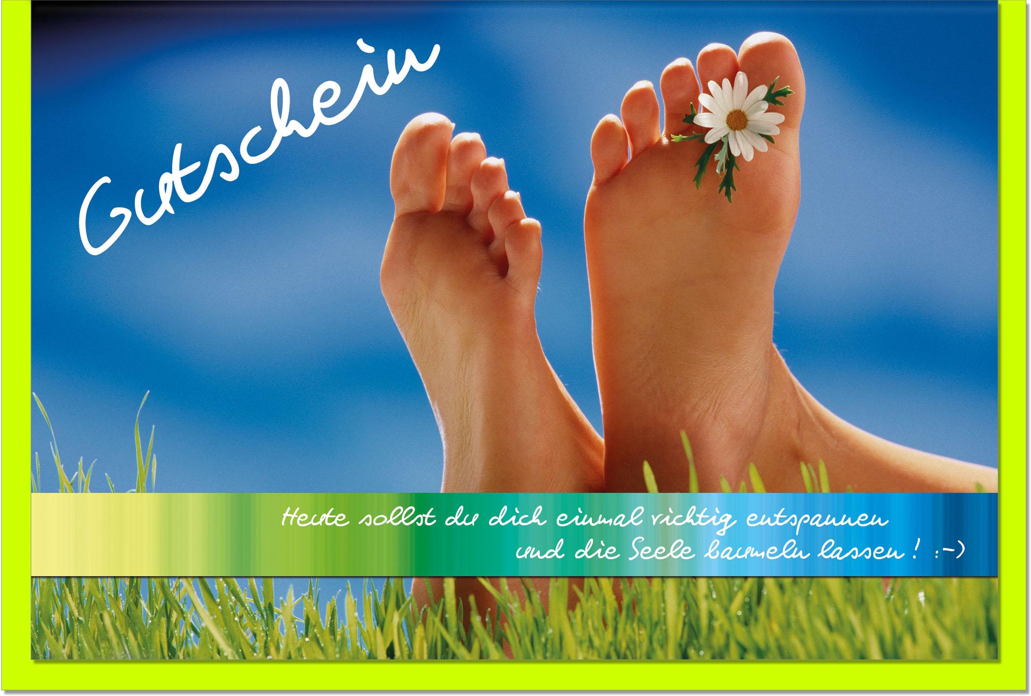 Gutscheinkarten / Grußkarten /Gutschein Füße