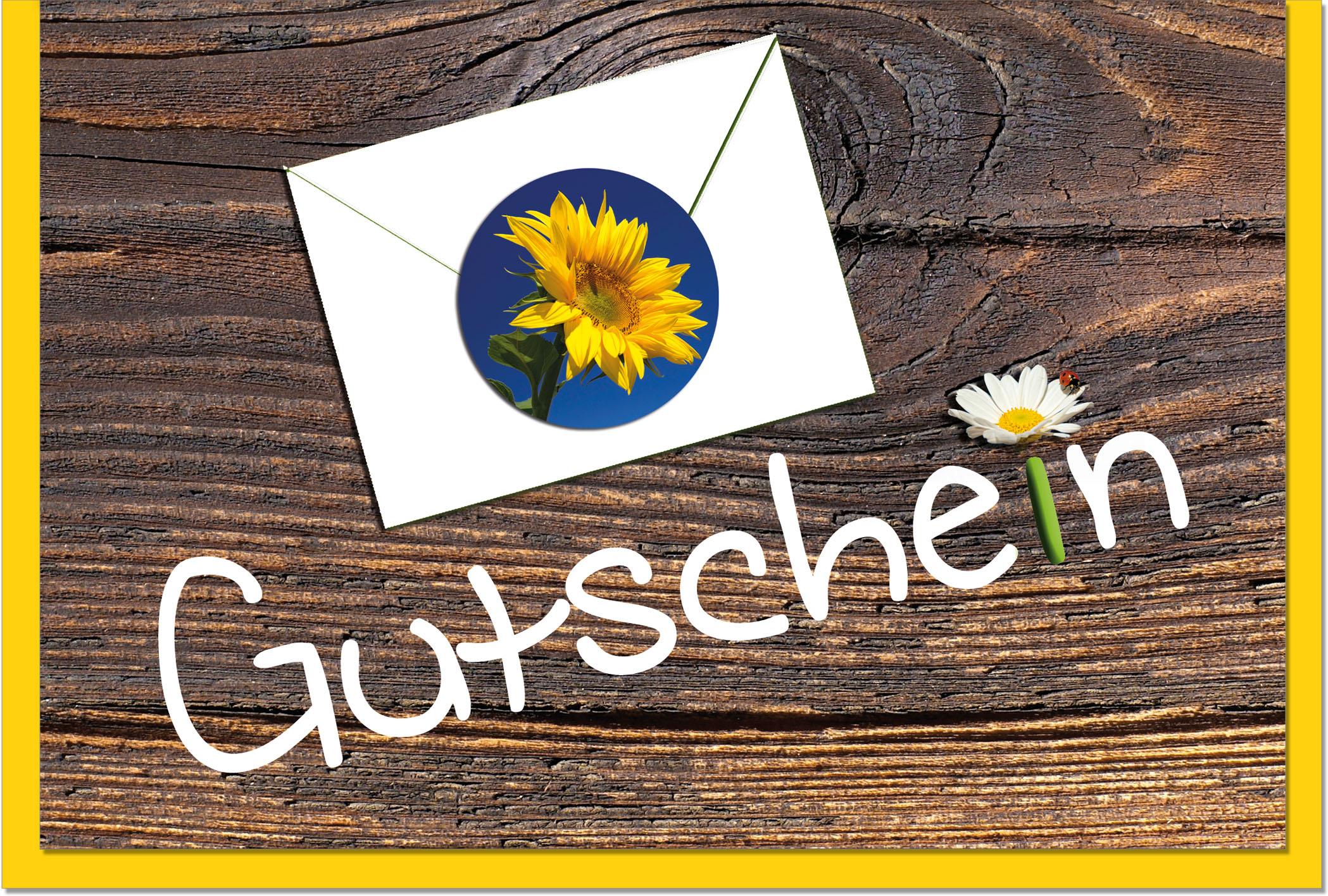 Gutscheinkarten / Grußkarten /Gutschein Holz