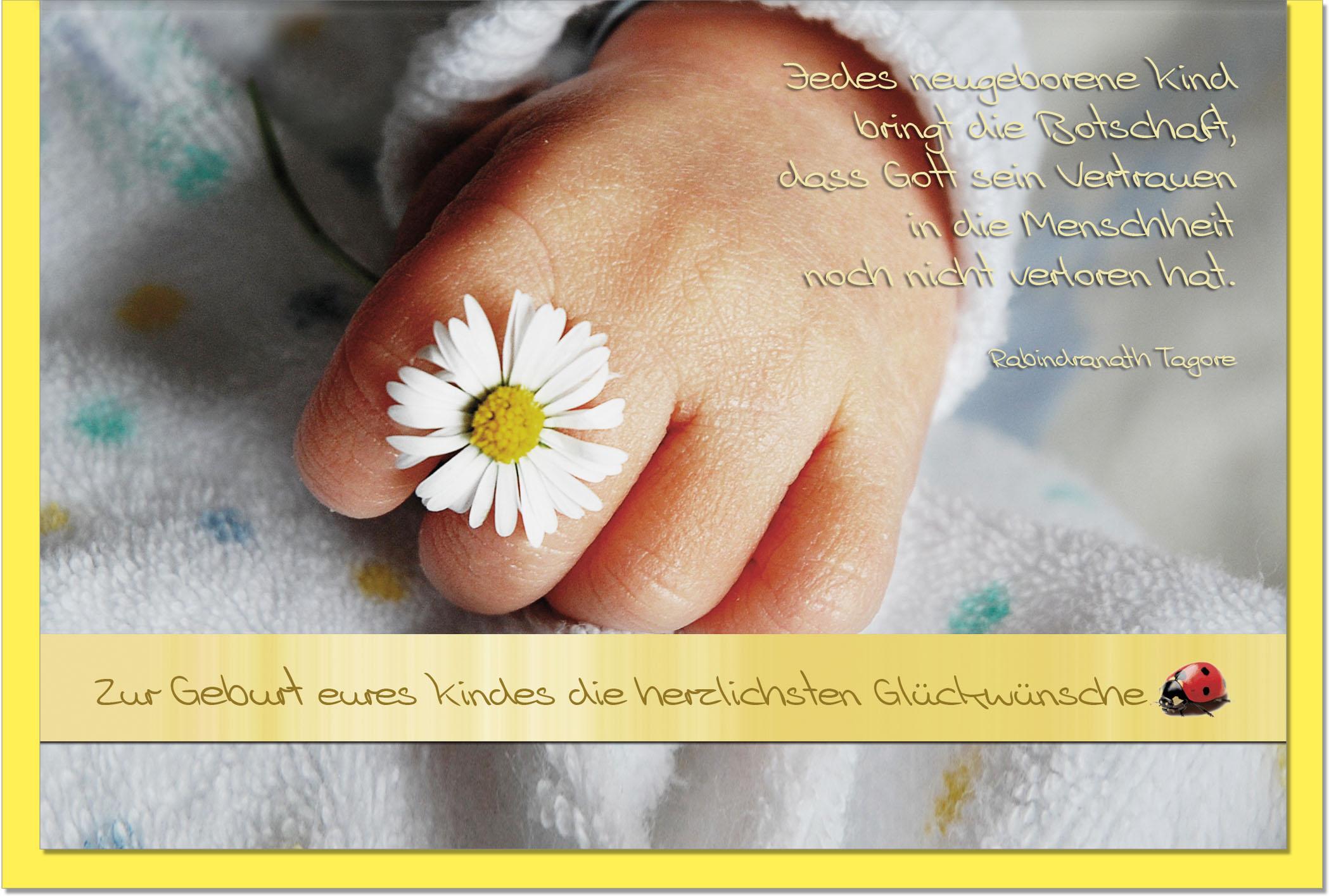 Geburtskarten / Grußkarten /Geburt Babyhand