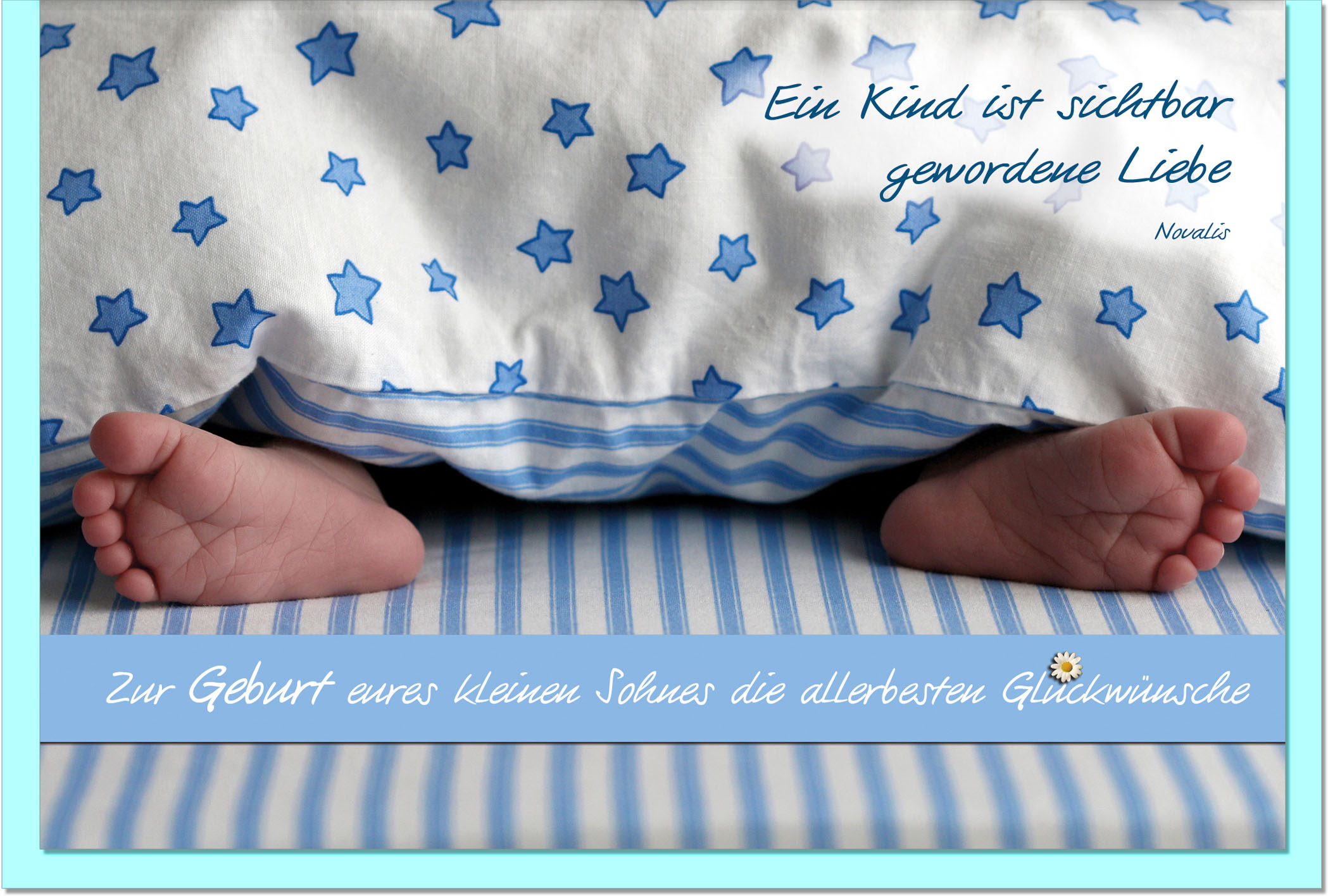Geburtskarten / Grußkarten /Geburt Babyfüße