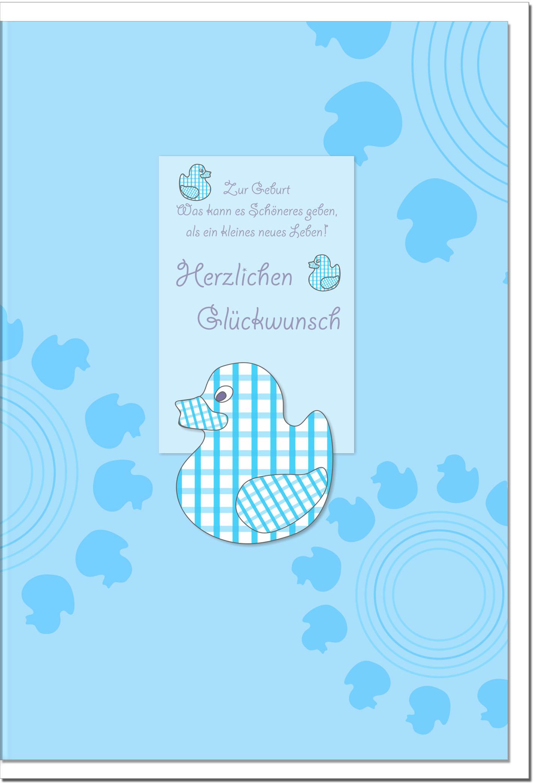 Geburtskarten / Grußkarten /Geburt Entenmuster
