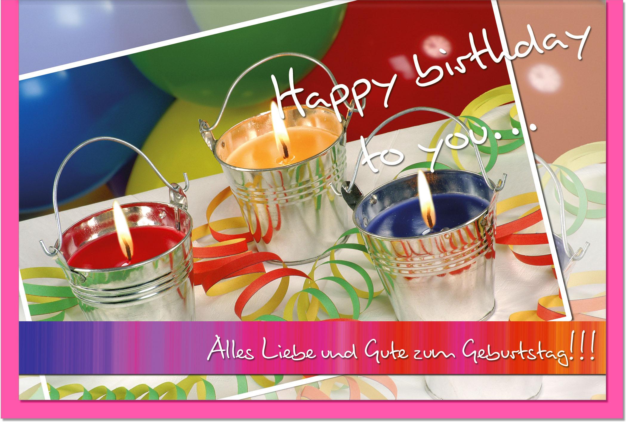 Geburtstagskarten / Grußkarten /Geburtstag Geburtstagskerzen