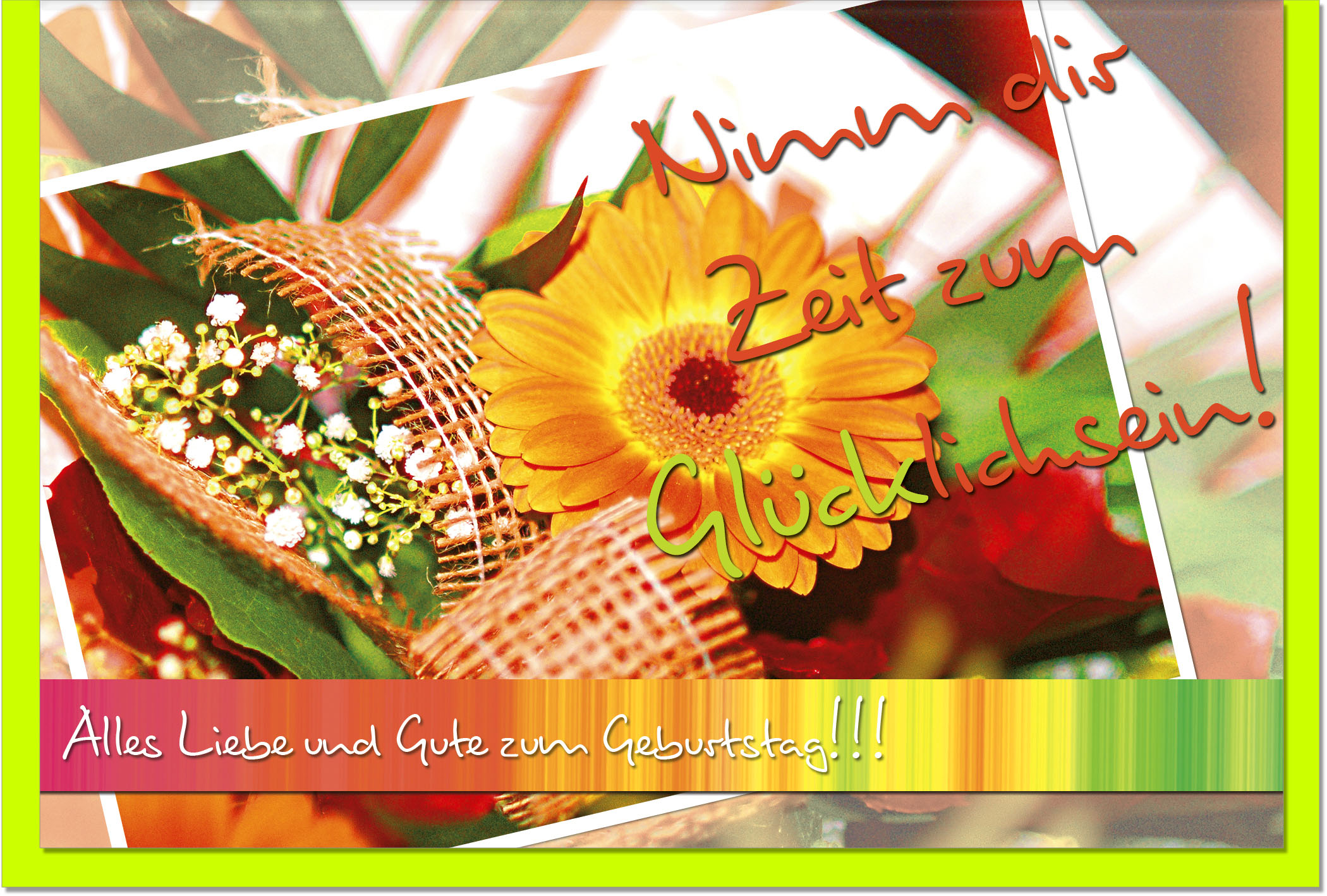 Geburtstagskarten / Grußkarten /Geburtstag Blumen