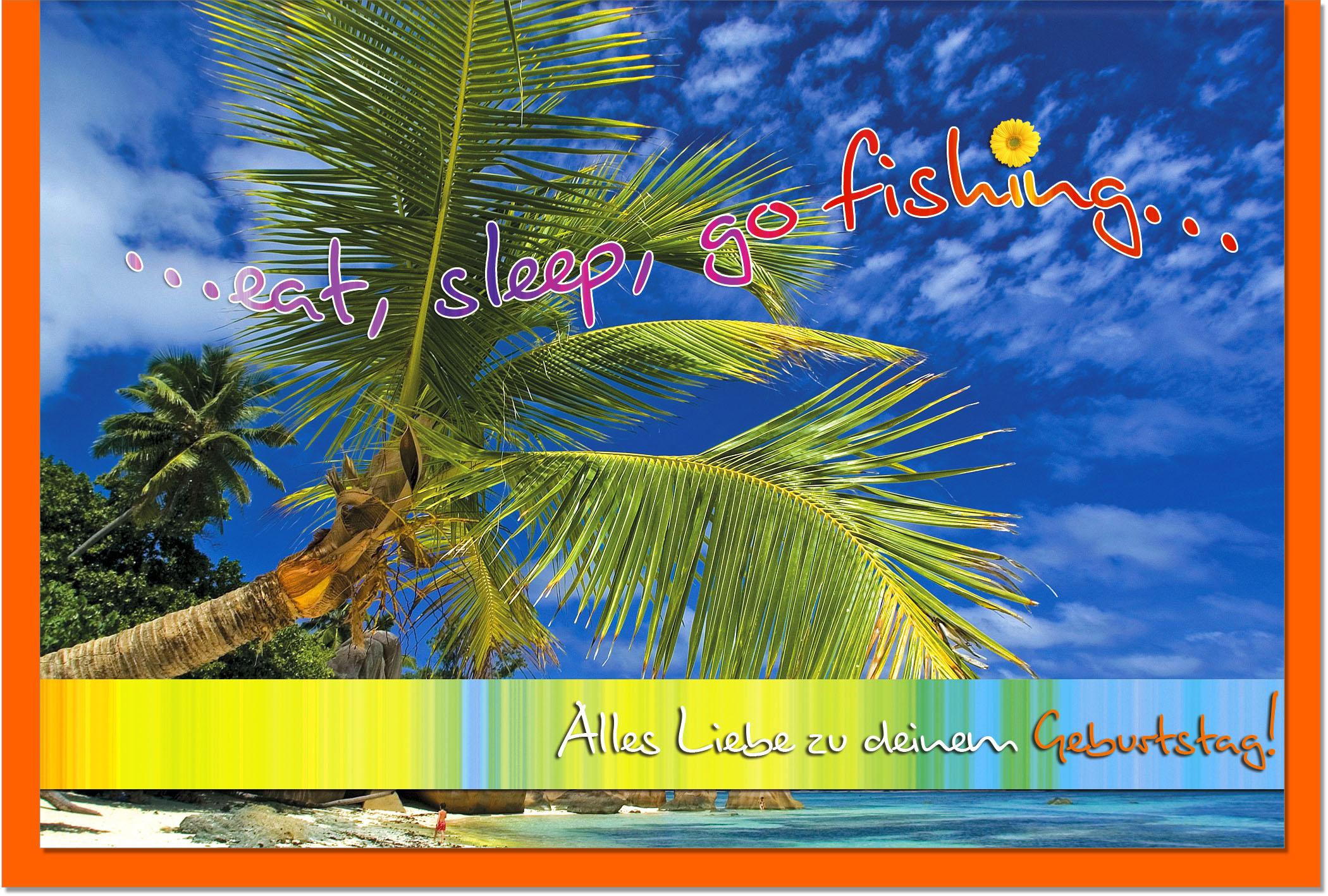 Geburtstagskarten / Grußkarten /Geburtstag Insel
