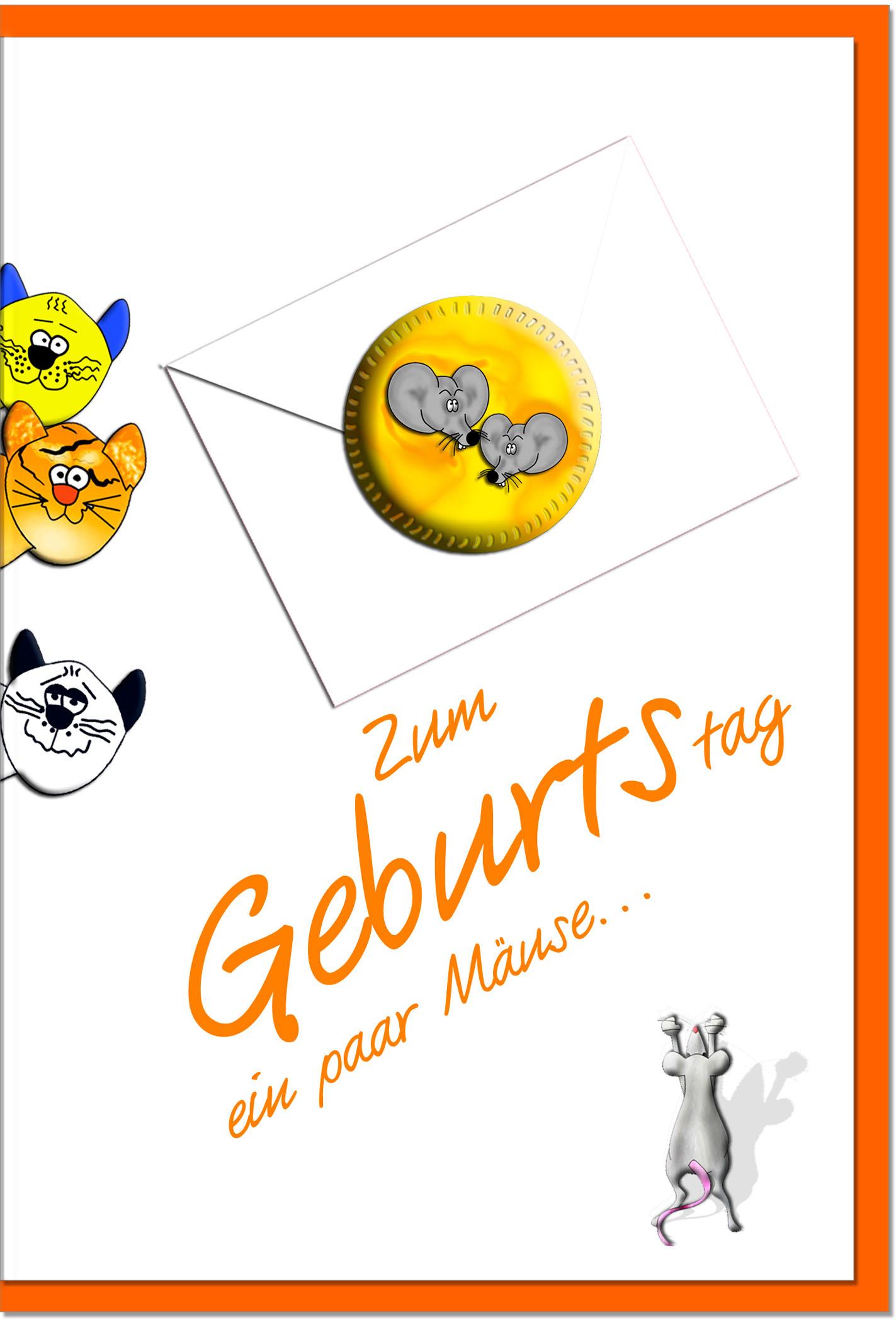Geburtstagskarten / Grußkarten /Geburtstag Katzen und Mäuse