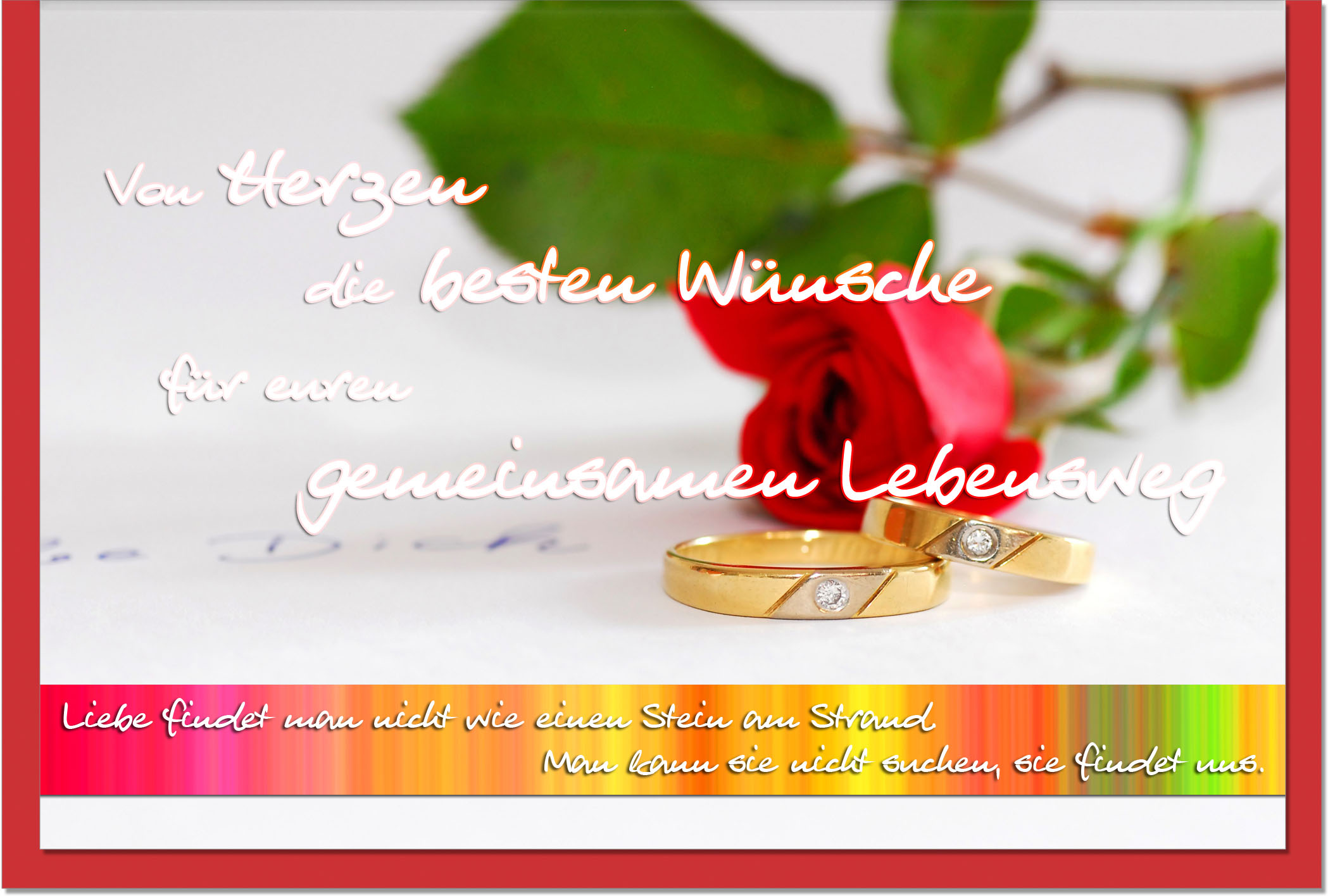 Hochzeitskarten / Grußkarten /Hochzeit Eheringe
