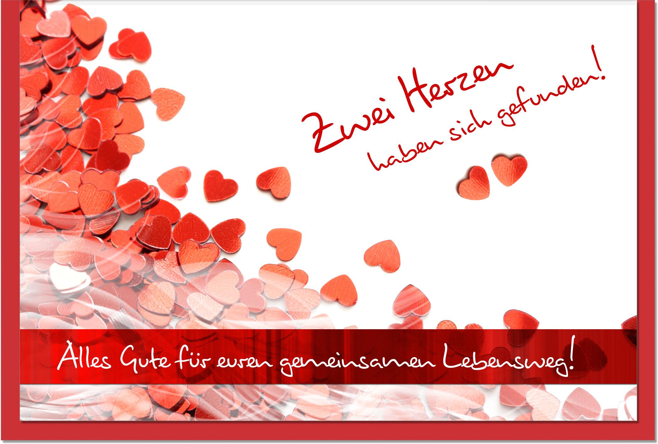 Hochzeitskarten / Grußkarten /Hochzeit Herzen