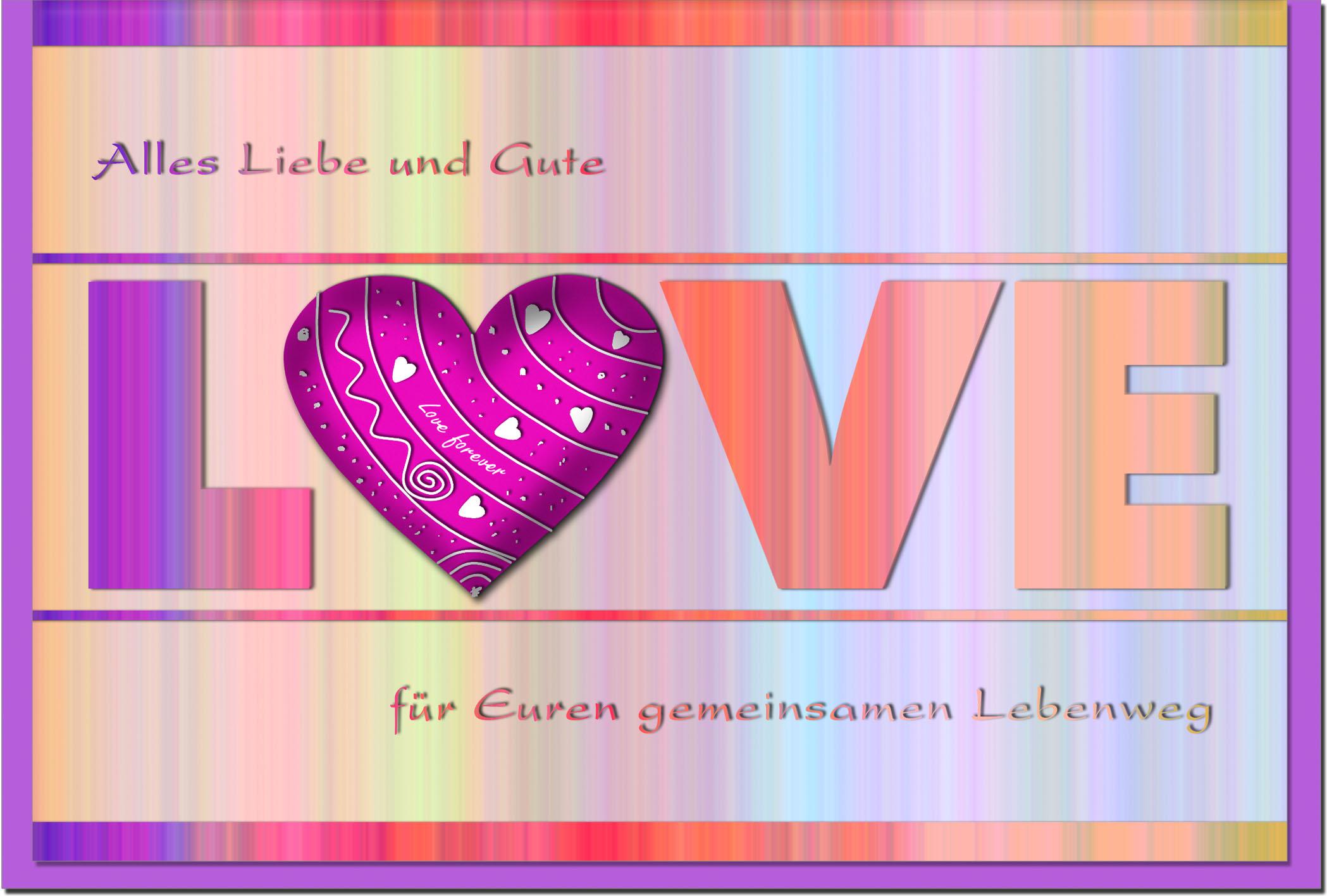 Hochzeitskarten / Grußkarten /Hochzeit Schriftzug Love