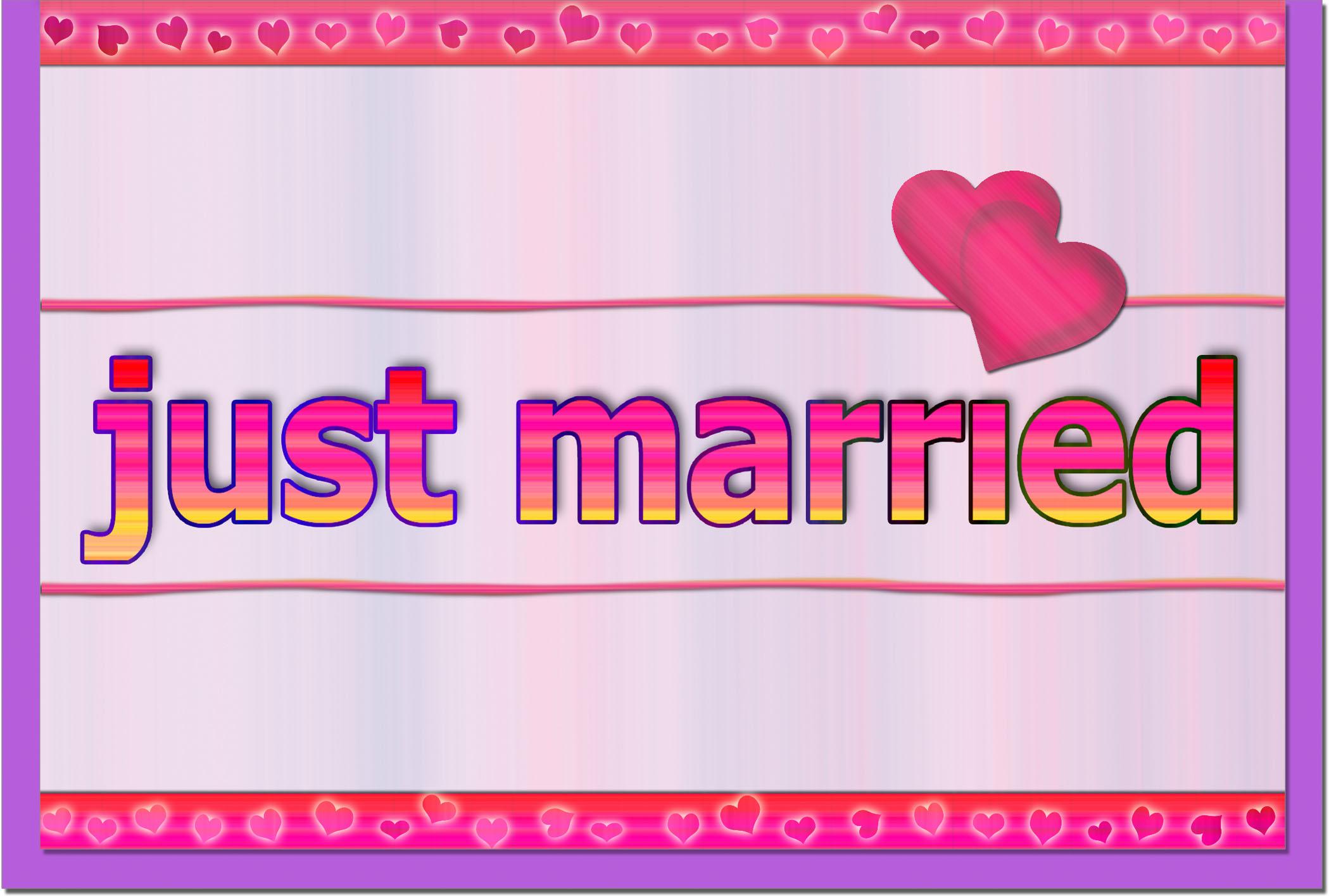Hochzeitskarten / Grußkarten /Hochzeit Schriftzug Just married