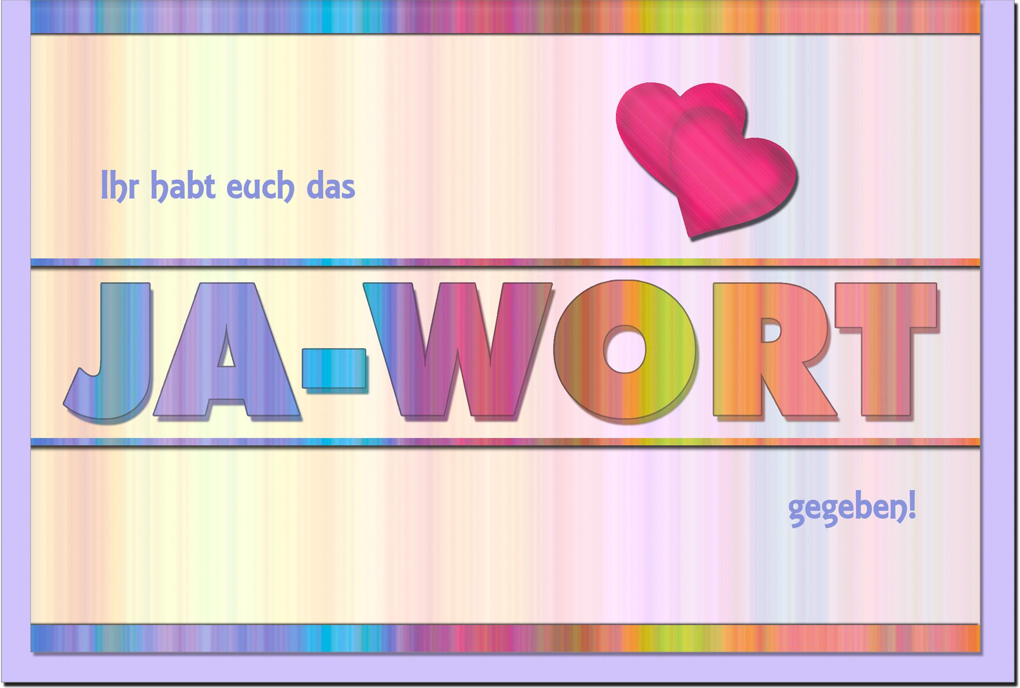 Hochzeitskarten / Grußkarten /Hochzeit Schriftzug Ja - Wort