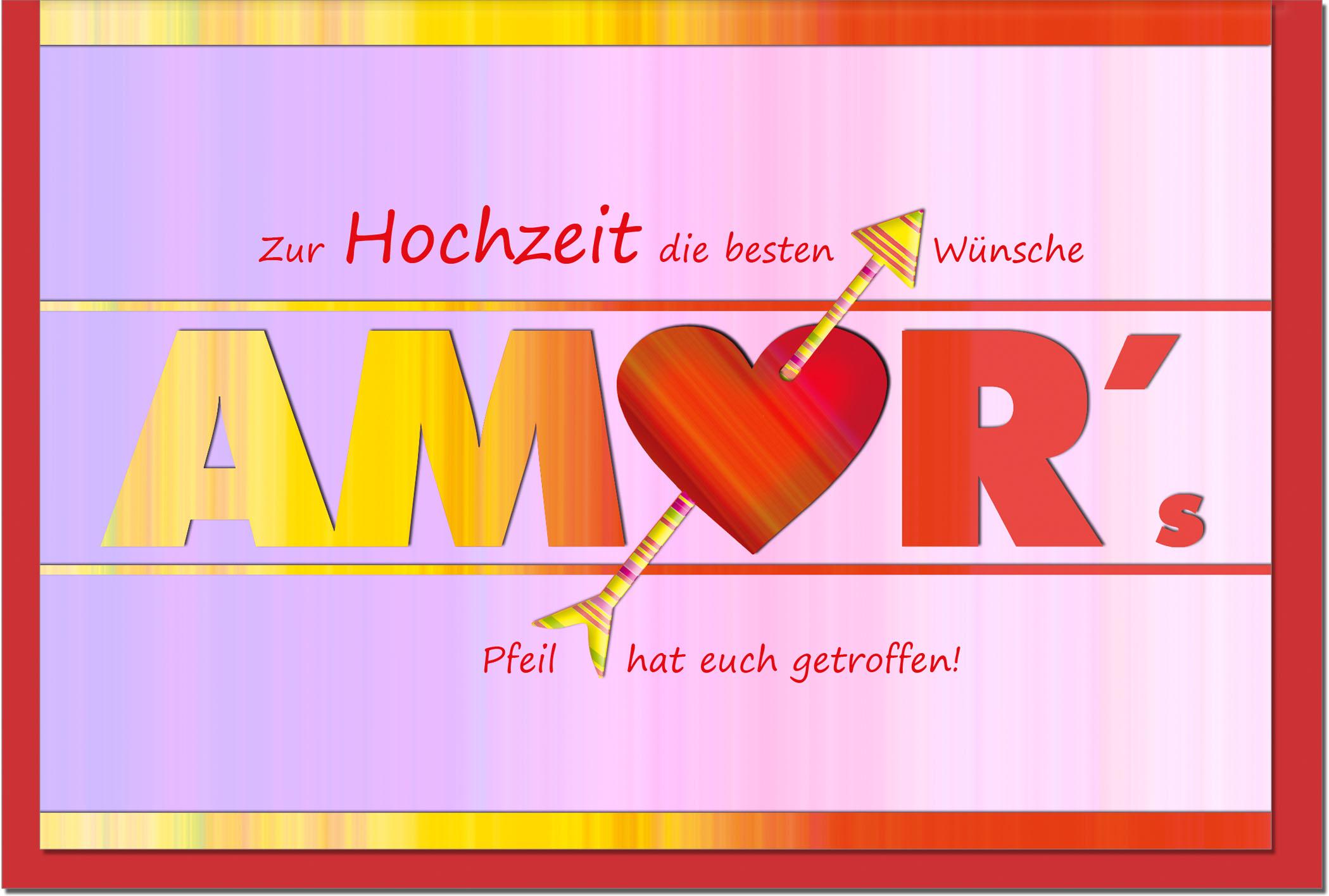 Hochzeitskarten / Grußkarten /Hochzeit Schriftzug Amor