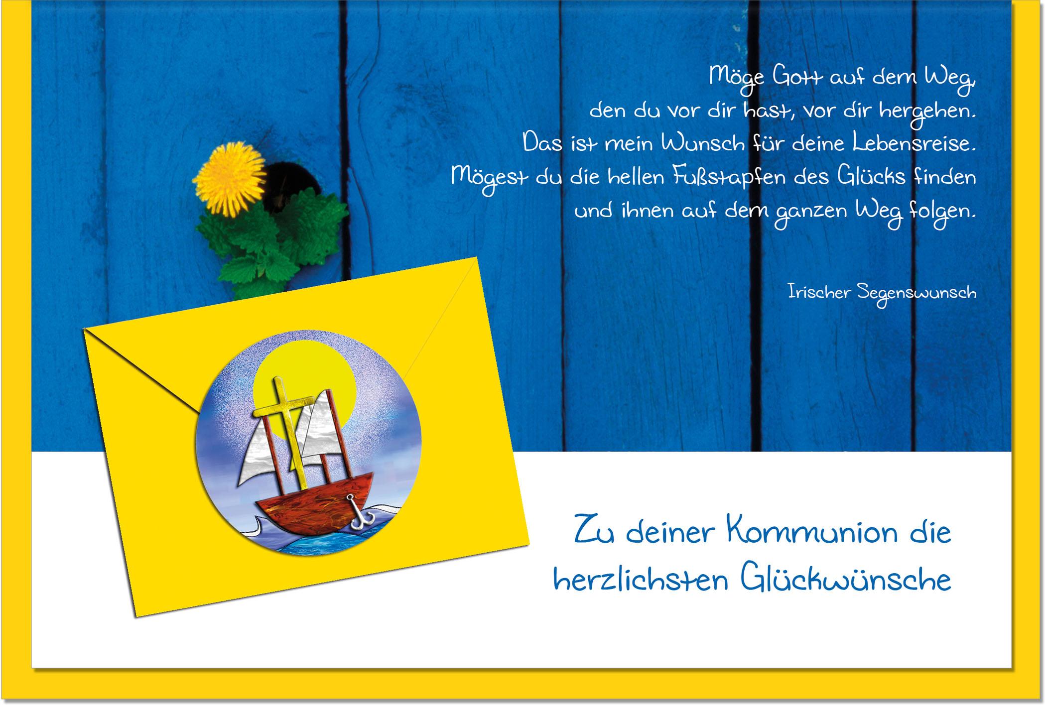 Kommunionskarten / Grußkarten /Kommunion Löwenzahn