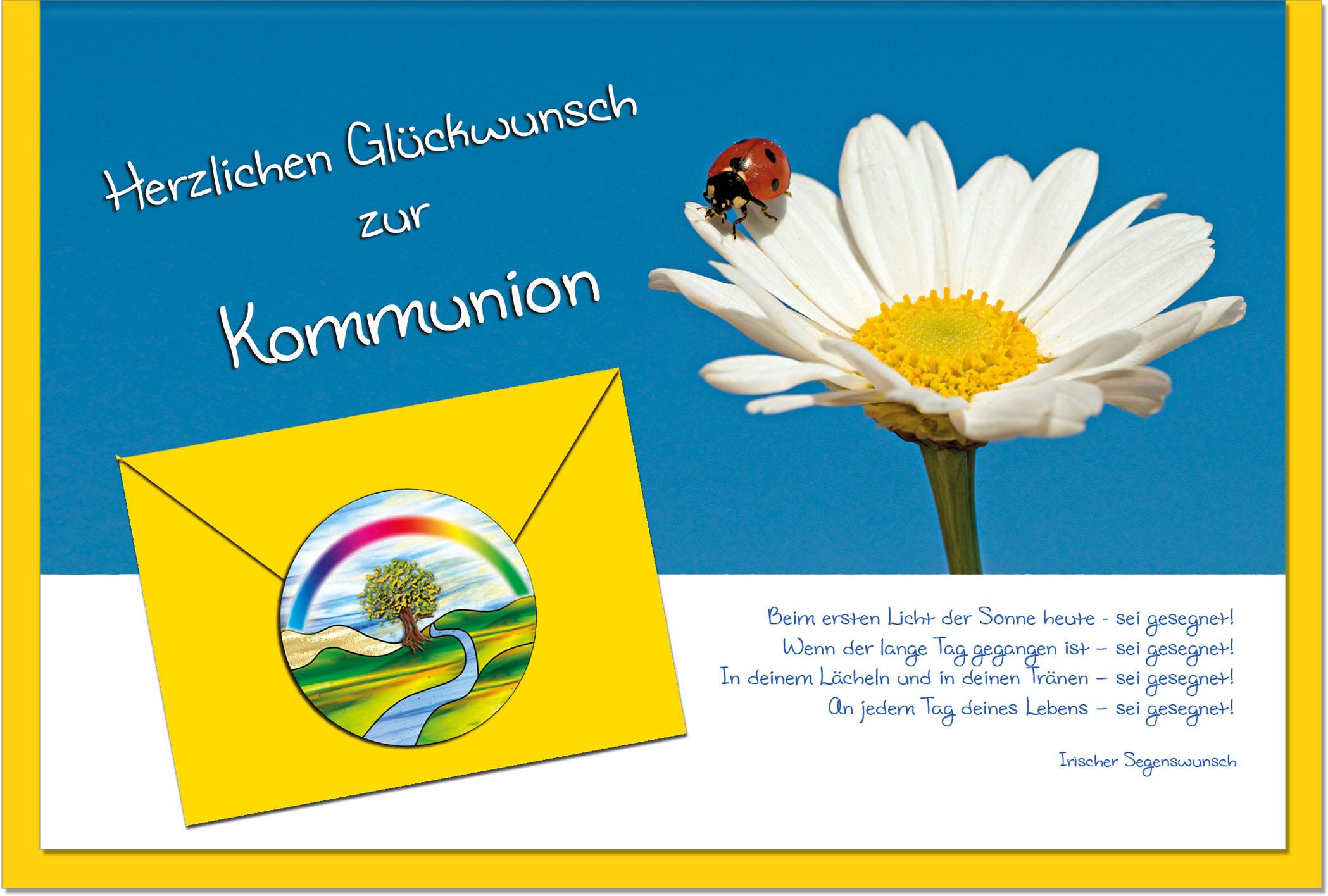 Kommunionskarten / Grußkarten /Kommunion Margerite