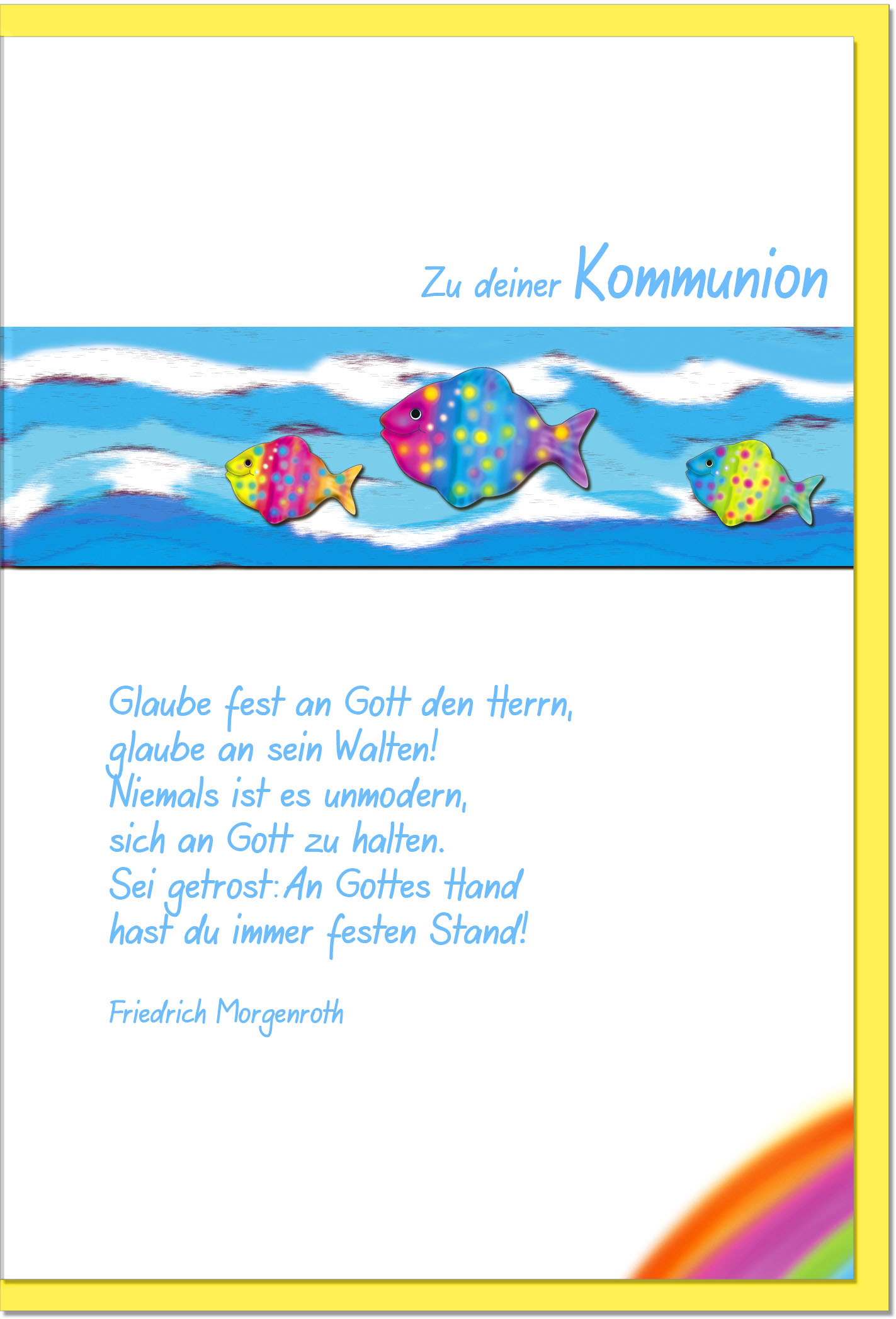 Kommunionskarten / Grußkarten /Kommunion Fische