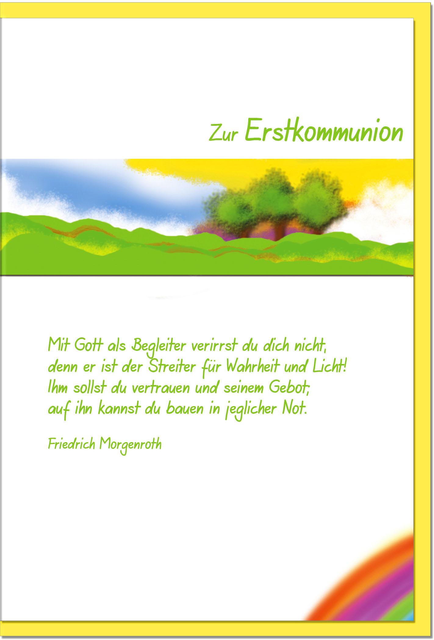 Kommunionskarten / Grußkarten /Kommunion Landschaft