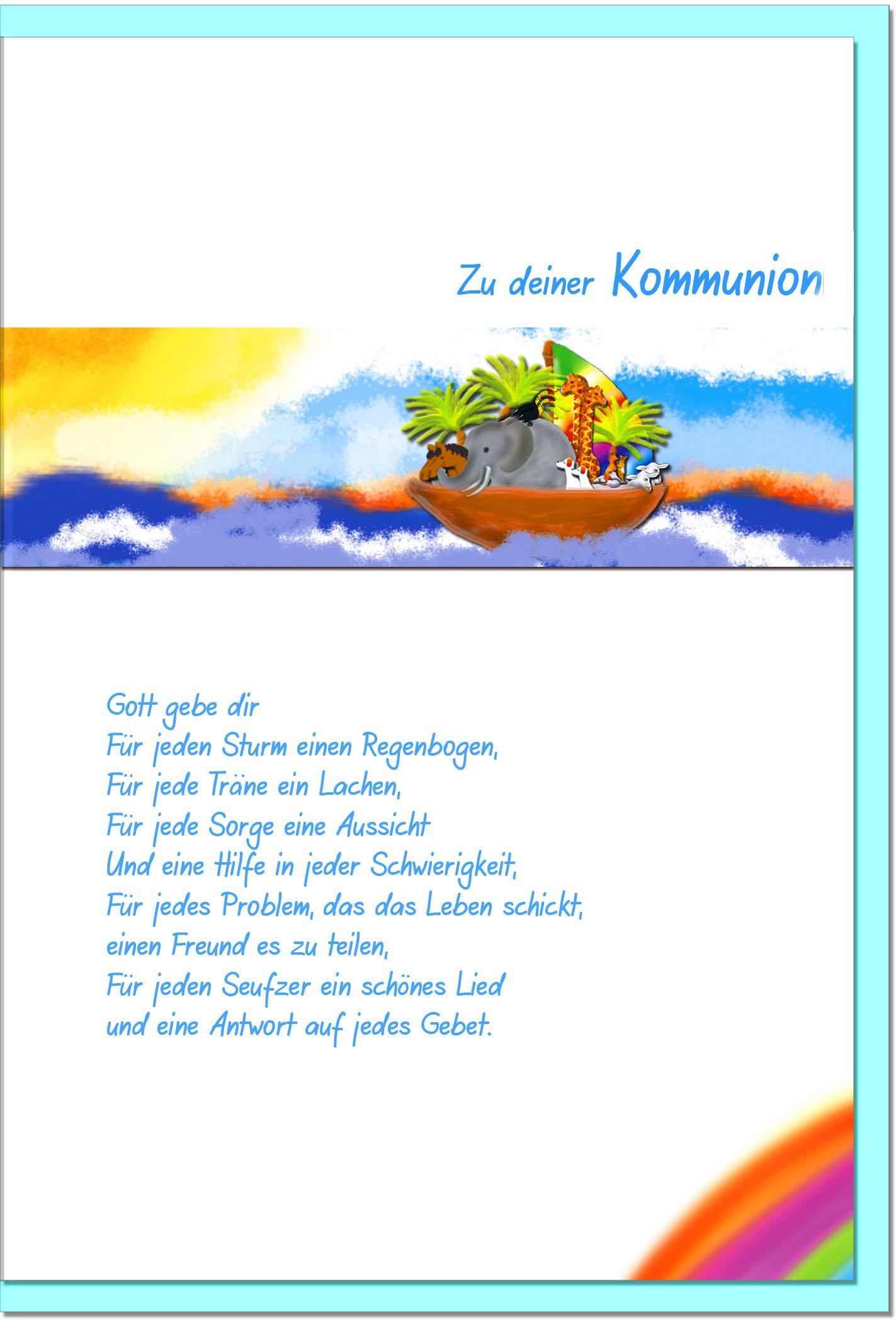 Kommunionskarten / Grußkarten /Kommunion Arche Noah