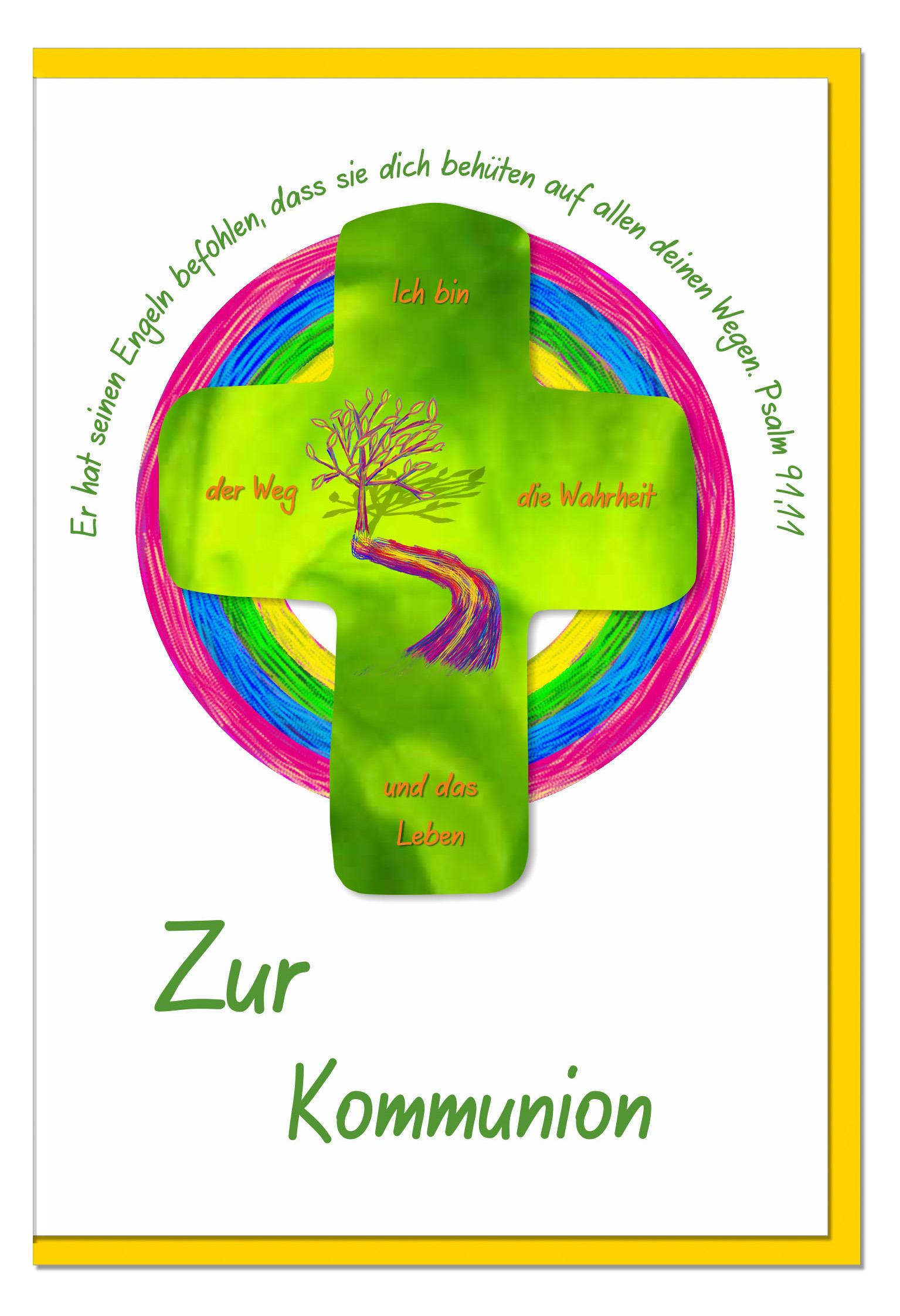 Kommunionskarten / Grußkarten /Kommunion Pfad