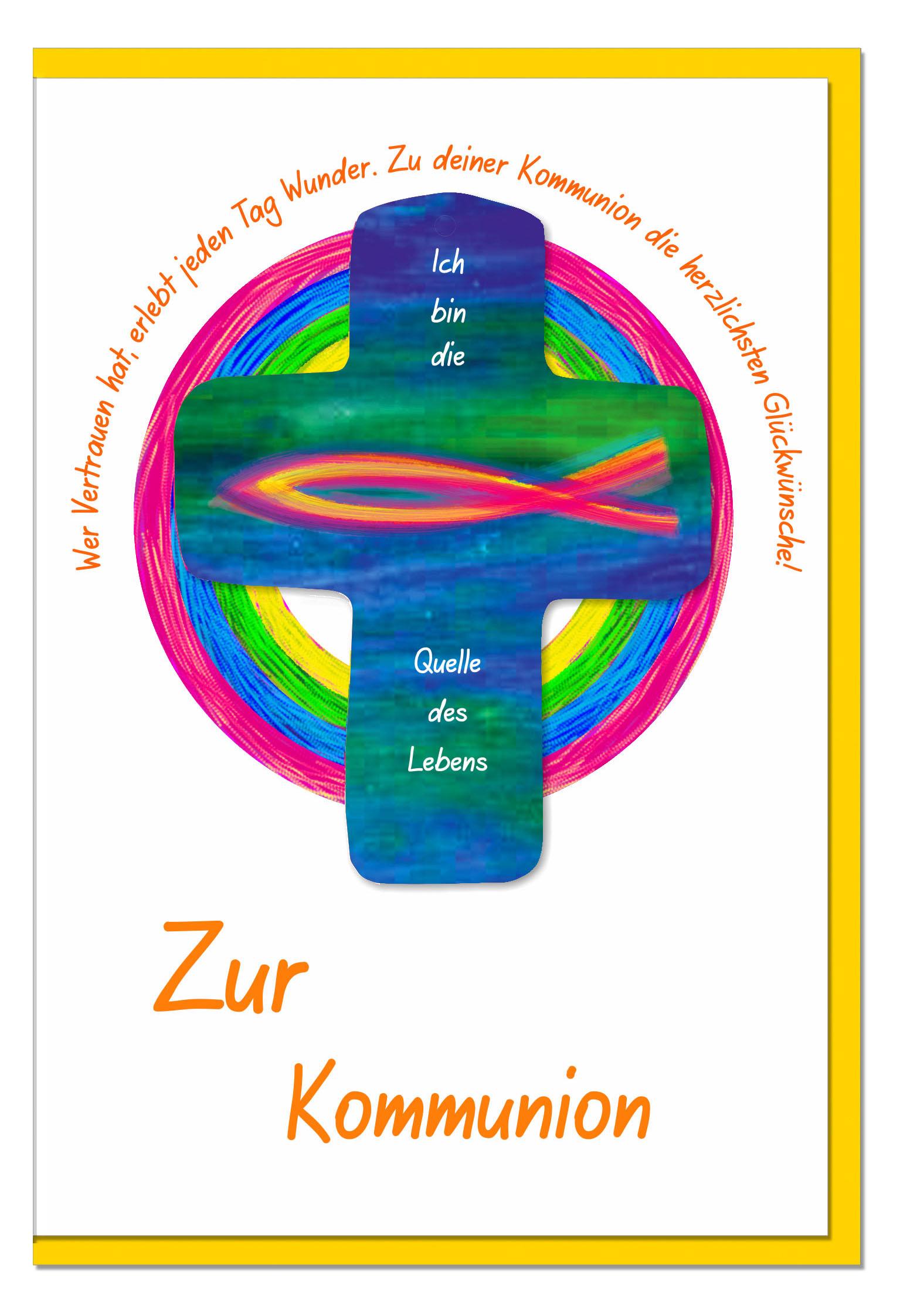 Kommunionskarten / Grußkarten /Kommunion Ichtys