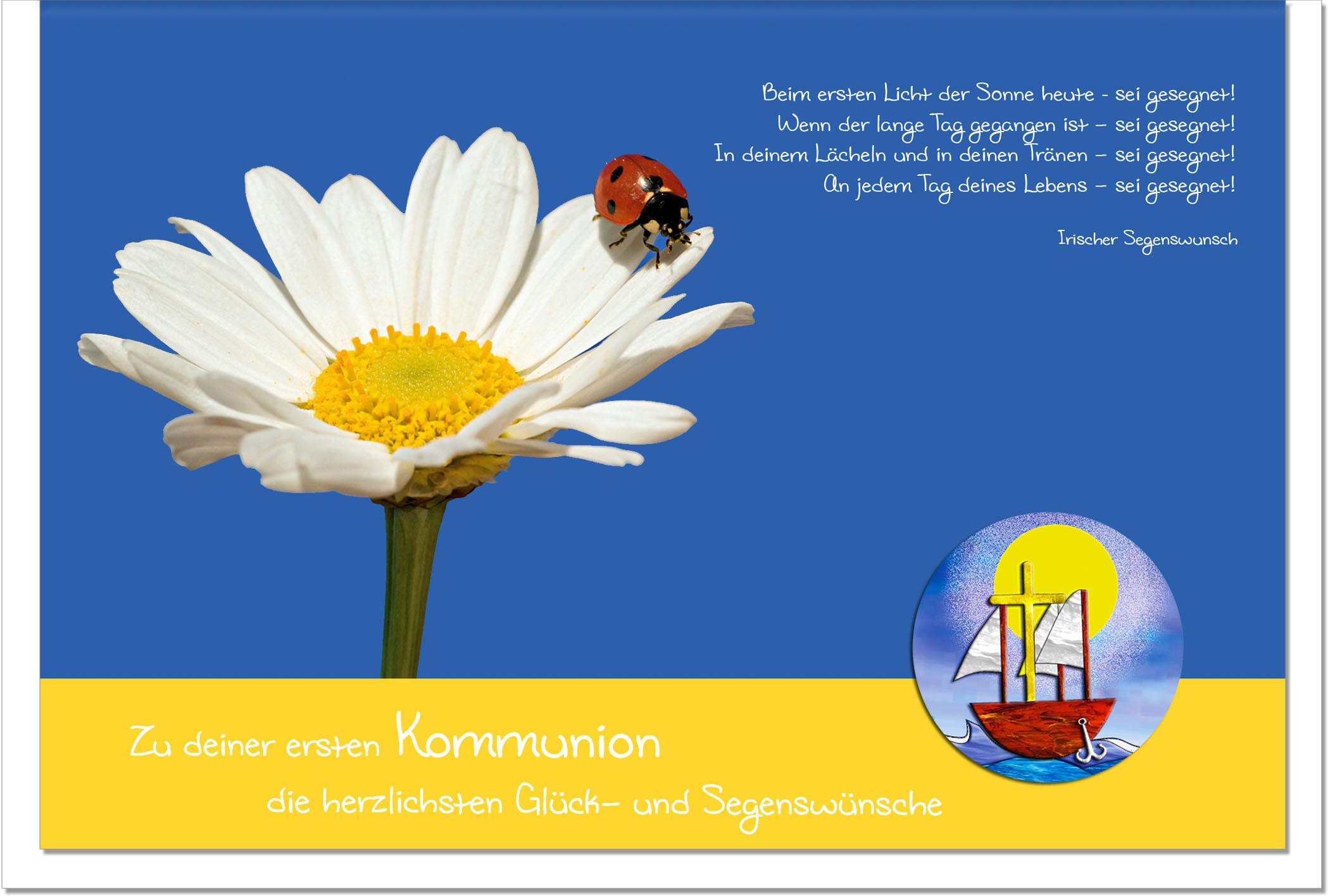 Kommunionskarten / Grußkarten /Kommunion Blüten