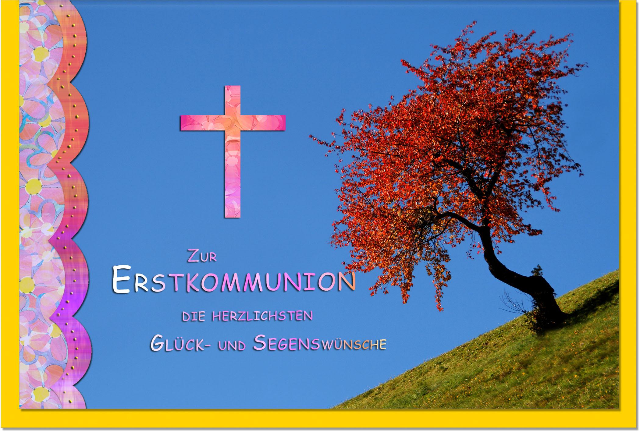 Kommunionskarten / Grußkarten /Kommunion Baum