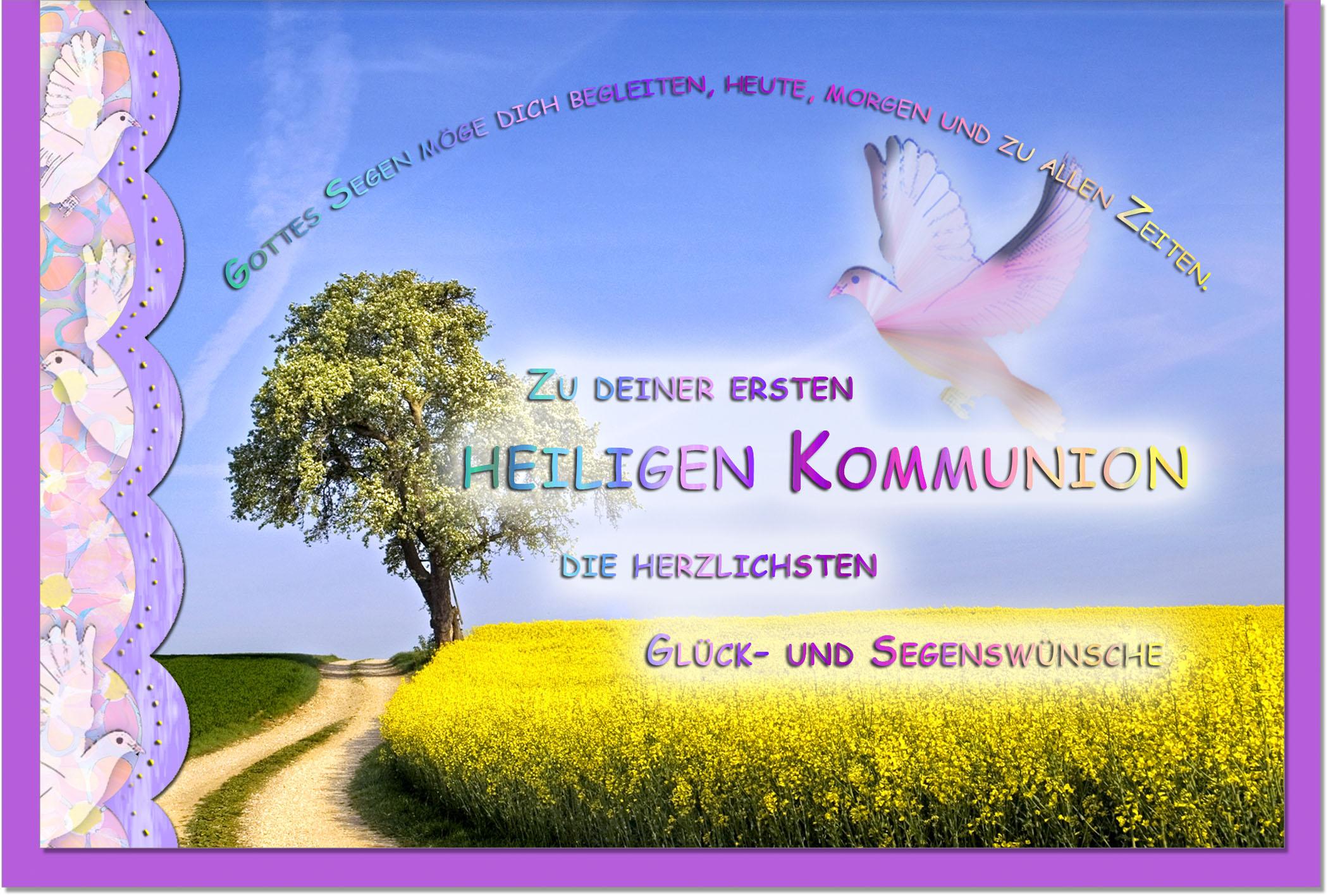 Kommunionskarten / Grußkarten /Kommunion Weg