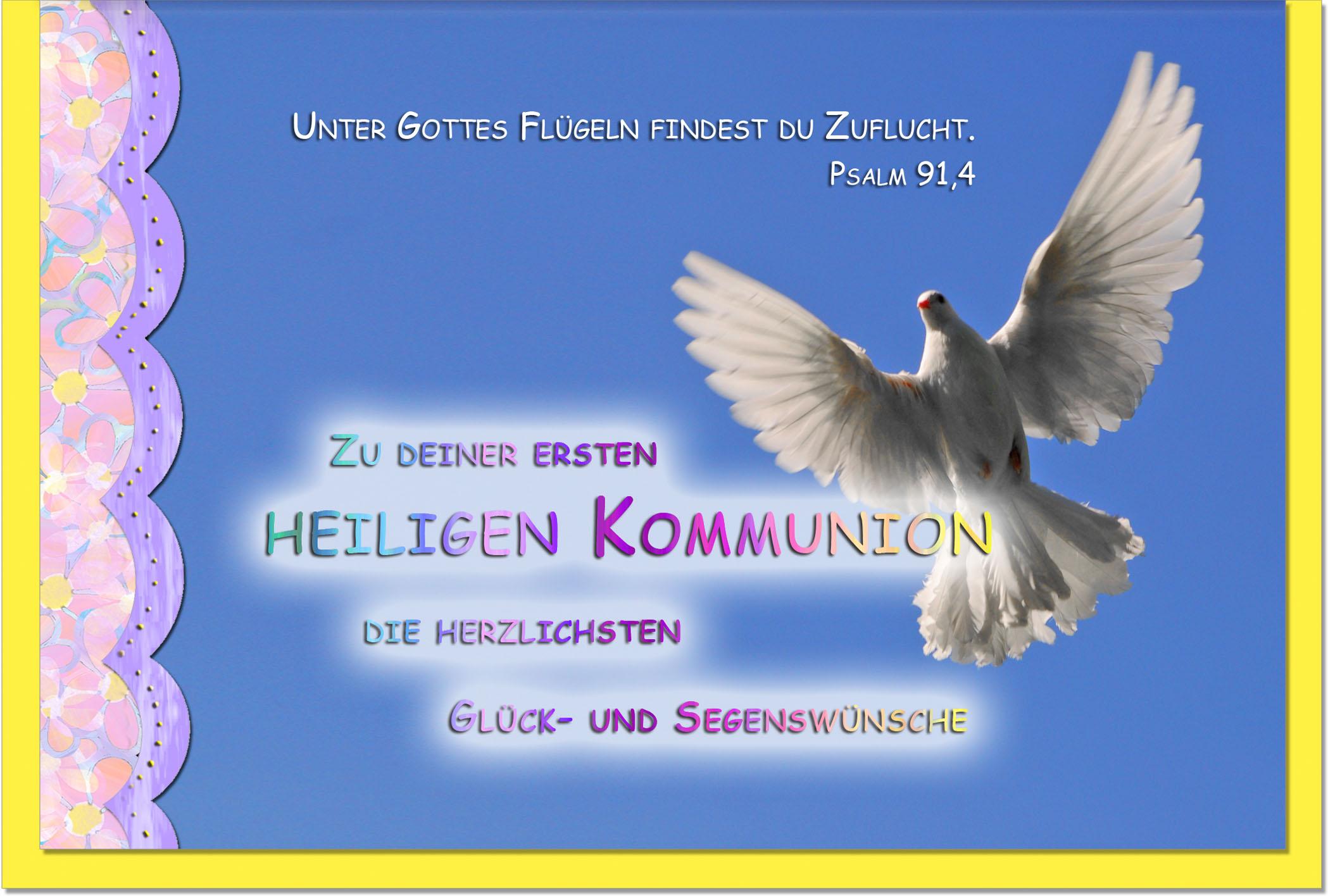 Kommunionskarten / Grußkarten /Kommunion Taube
