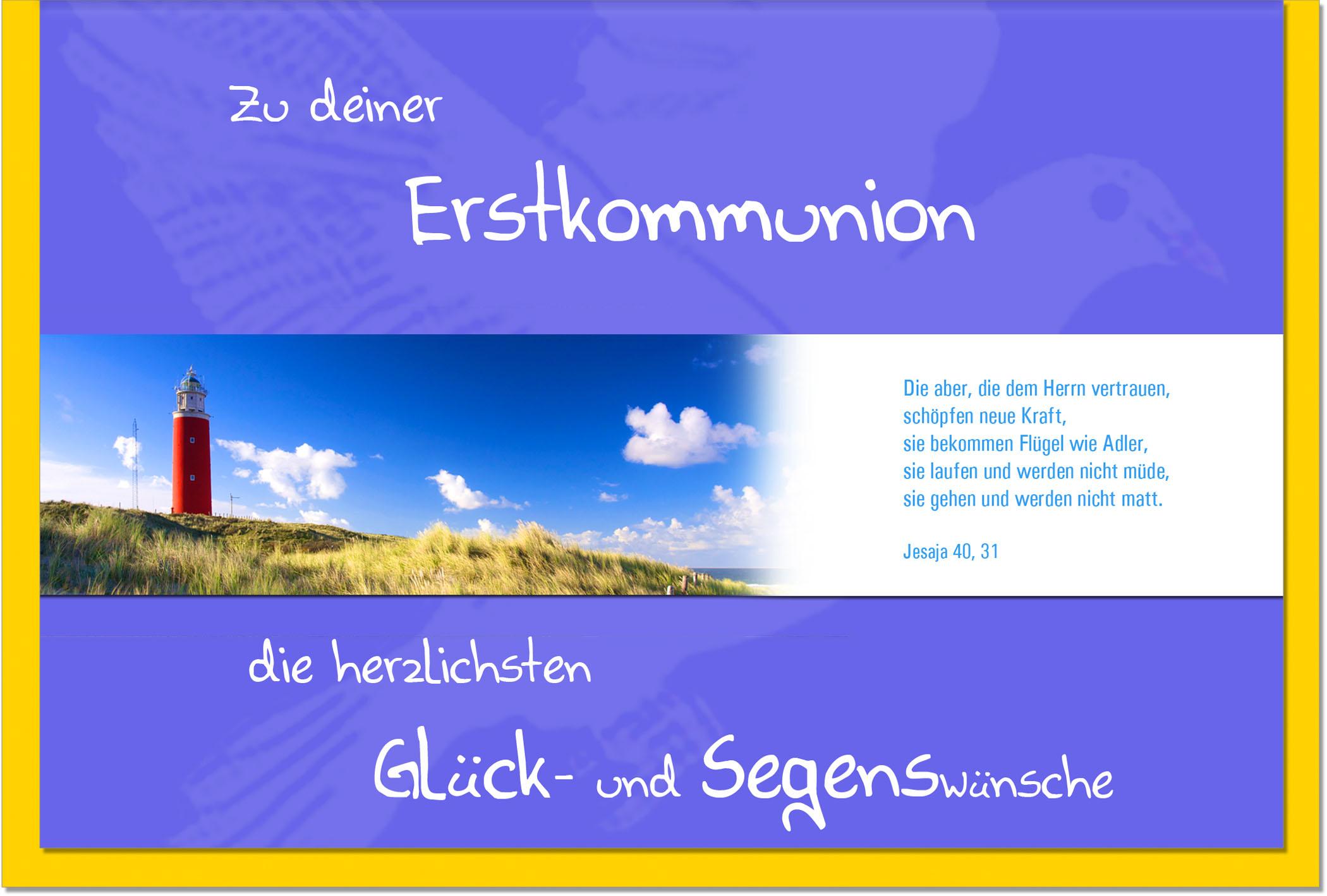 Kommunionskarten / Grußkarten /Kommunion Leuchtturm