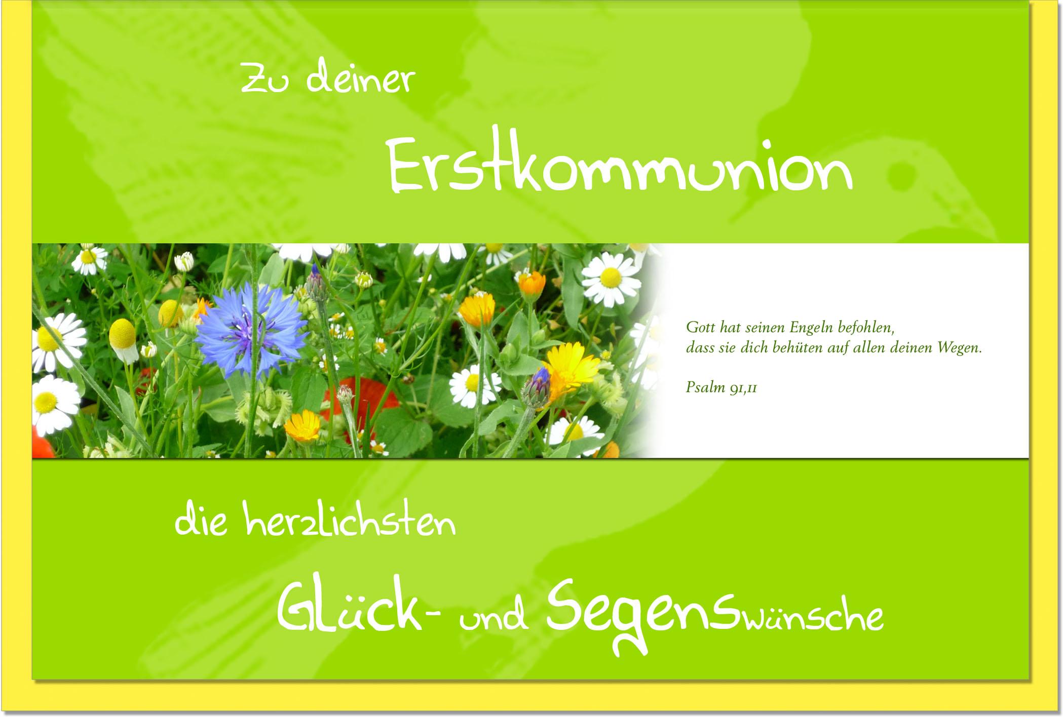 Kommunionskarten / Grußkarten /Kommunion Blumenwiese