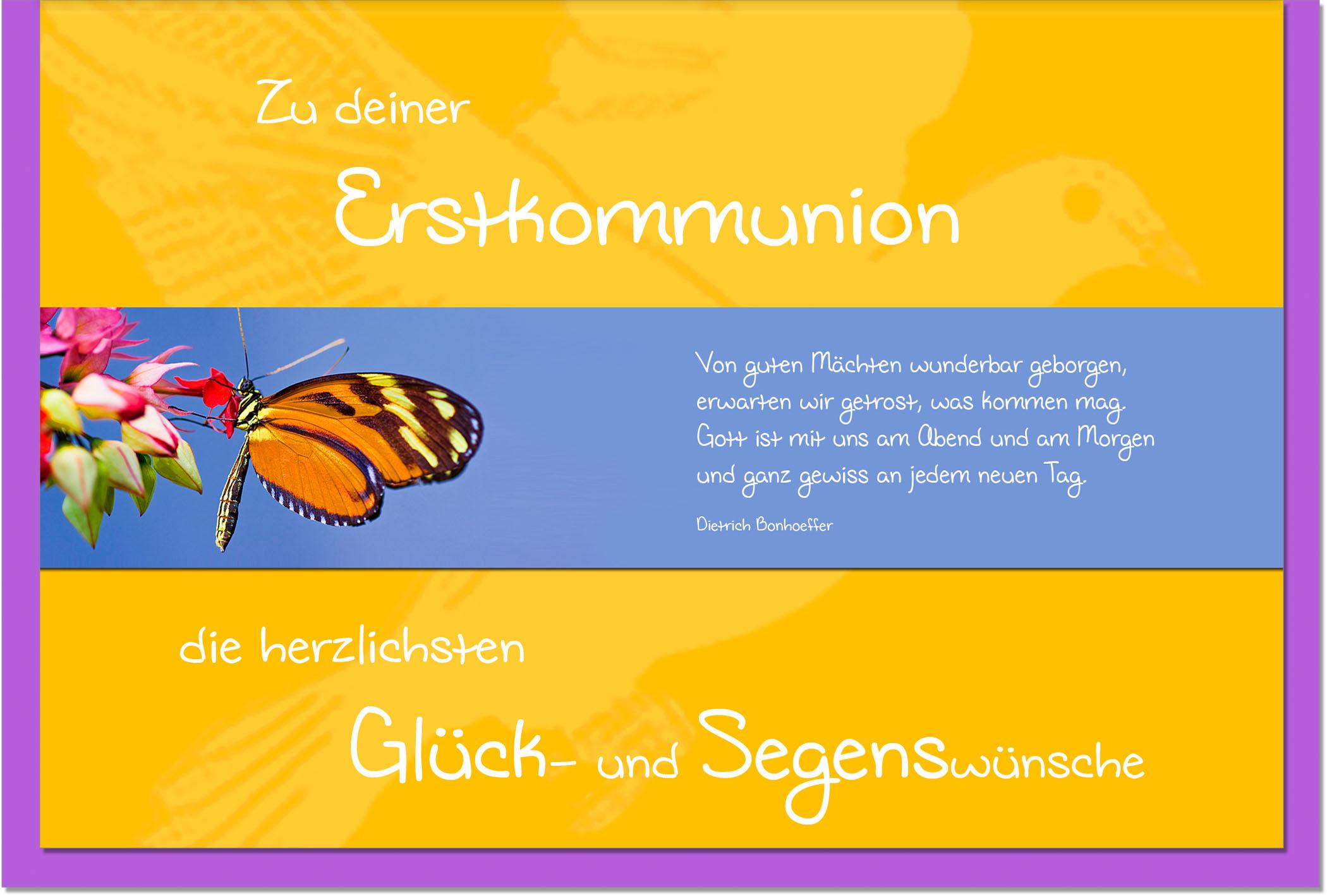 Kommunionskarten / Grußkarten /Kommunion Schmetterling