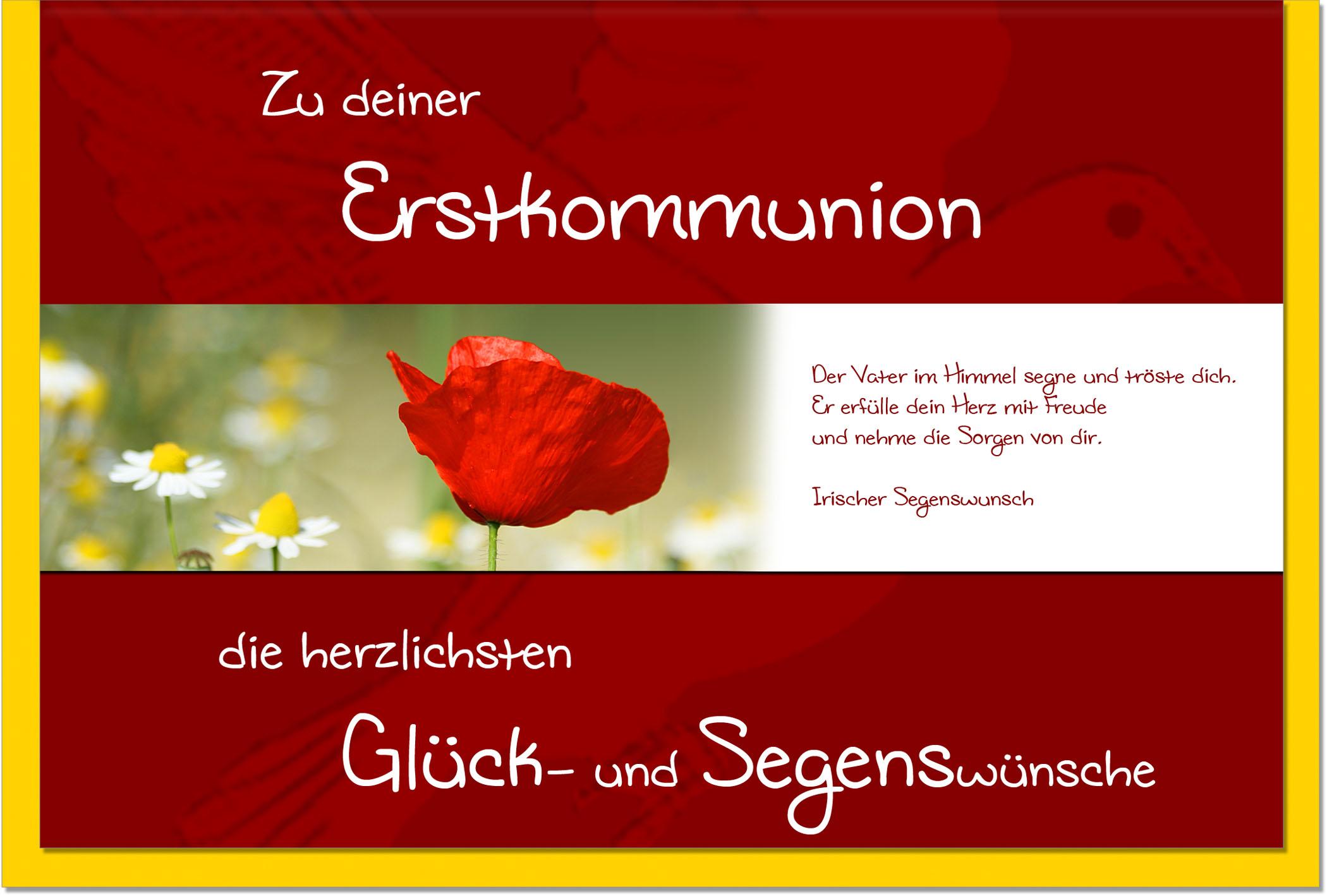 Kommunionskarten / Grußkarten /Kommunion Mohn