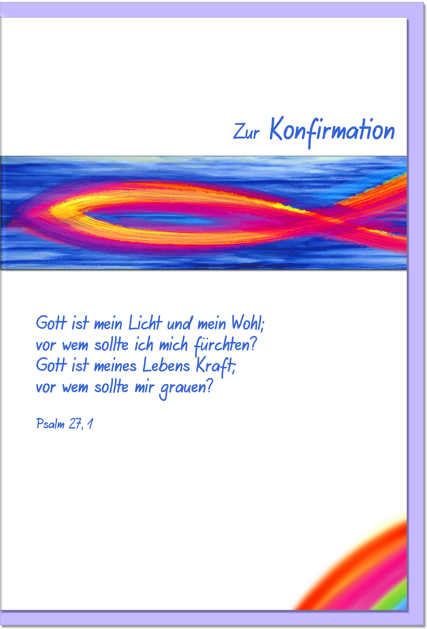 Konfirmationskarten / Grußkarten /Konfirmation Ichtys