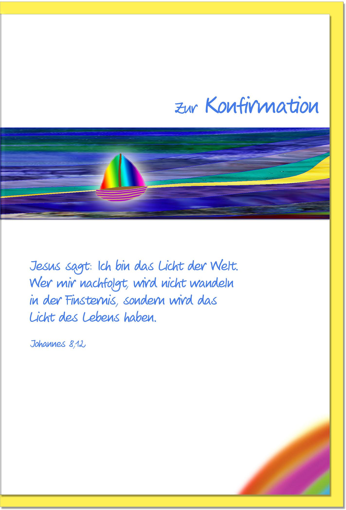 Konfirmationskarten / Grußkarten /Konfirmation Schiff