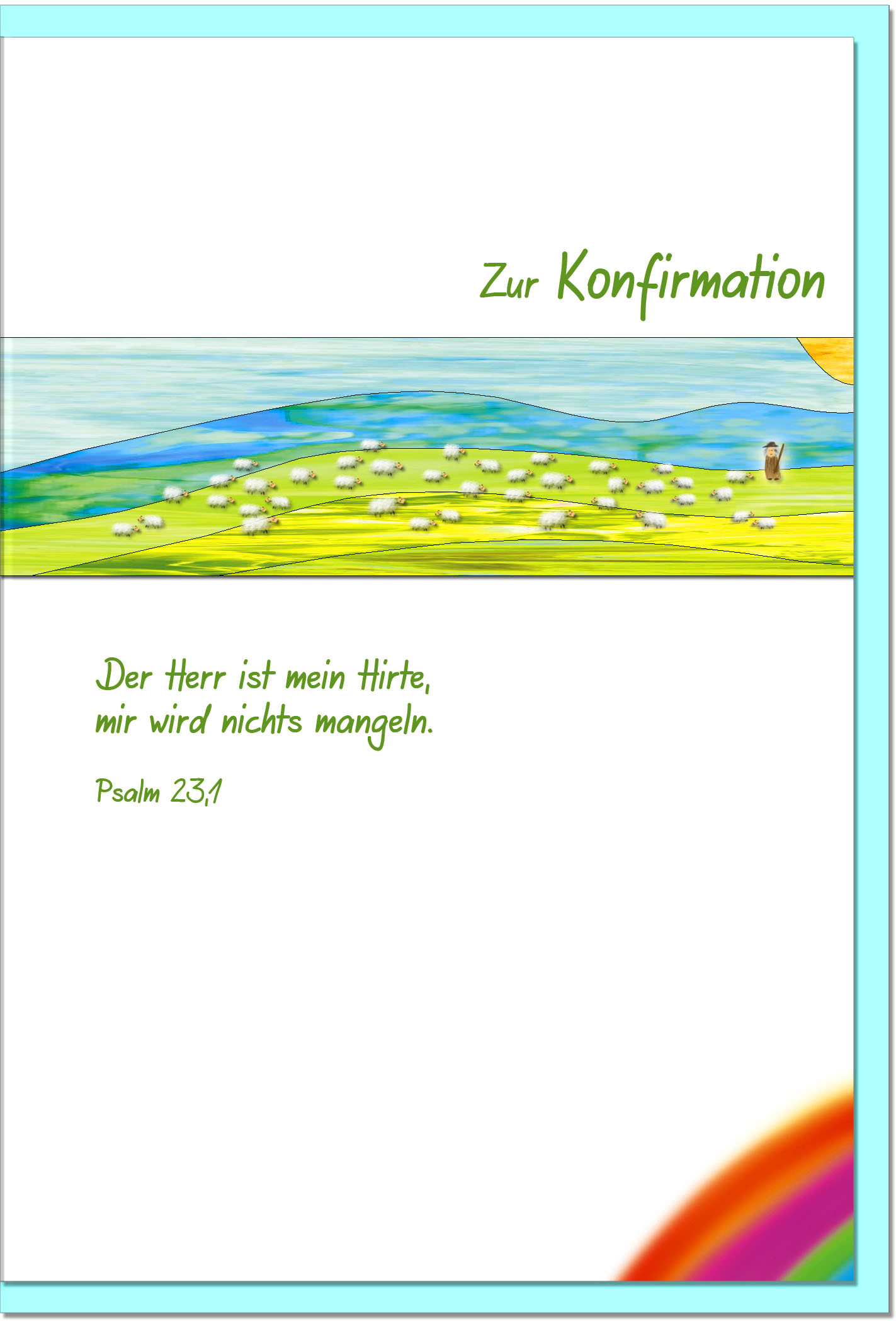 Konfirmationskarten / Grußkarten /Konfirmation Hirte