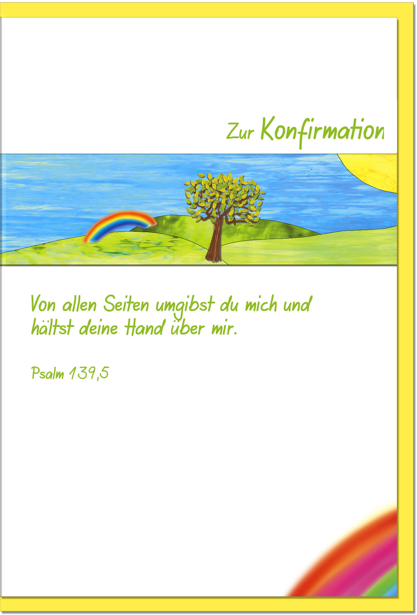 Konfirmationskarten / Grußkarten /Konfirmation Baum