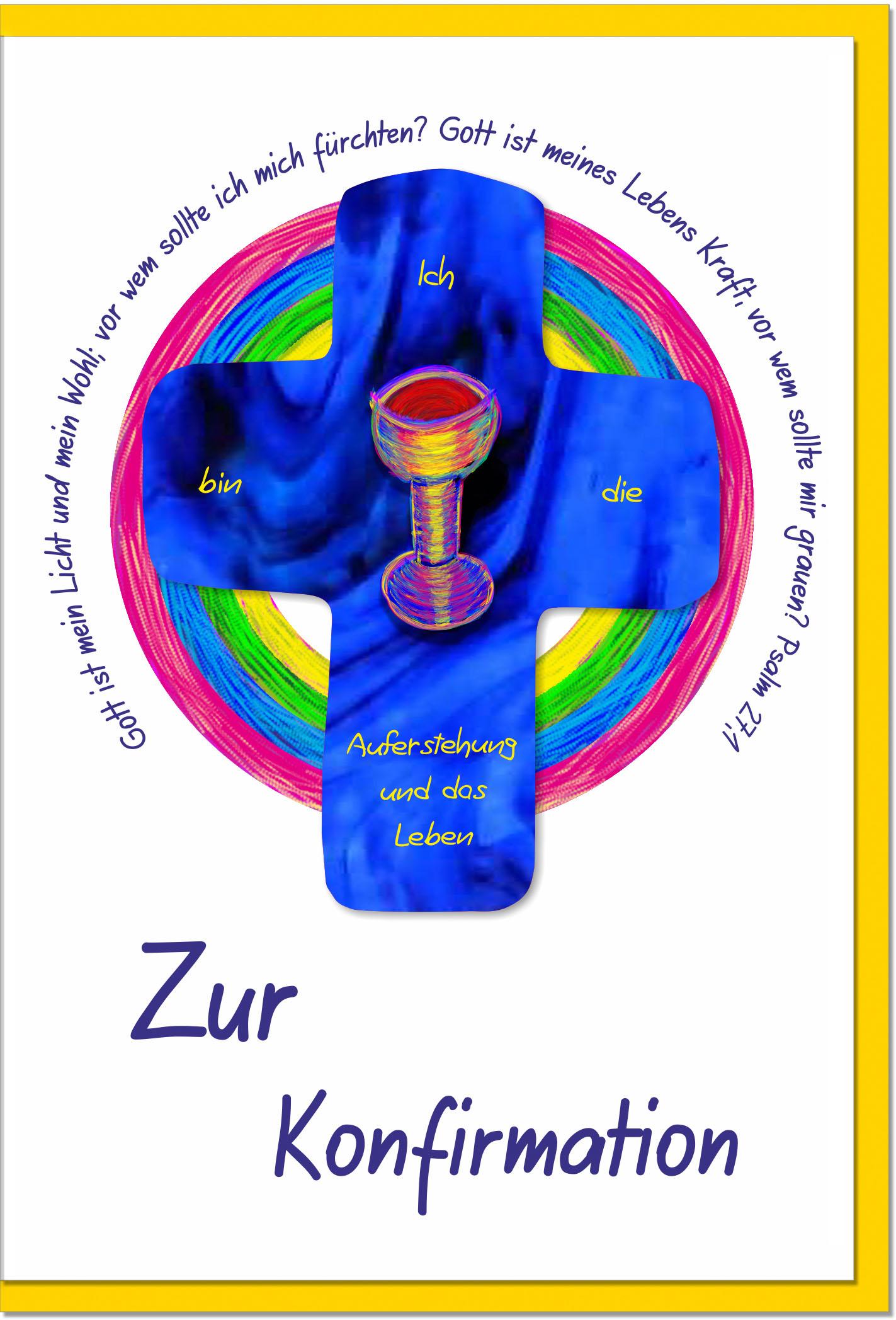 Konfirmationskarten / Grußkarten /Konfirmation Weinkelch