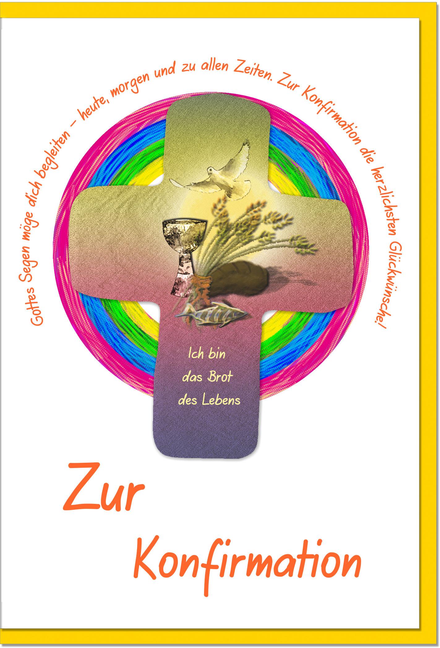 Konfirmationskarten / Grußkarten /Konfirmation Brot des Lebens