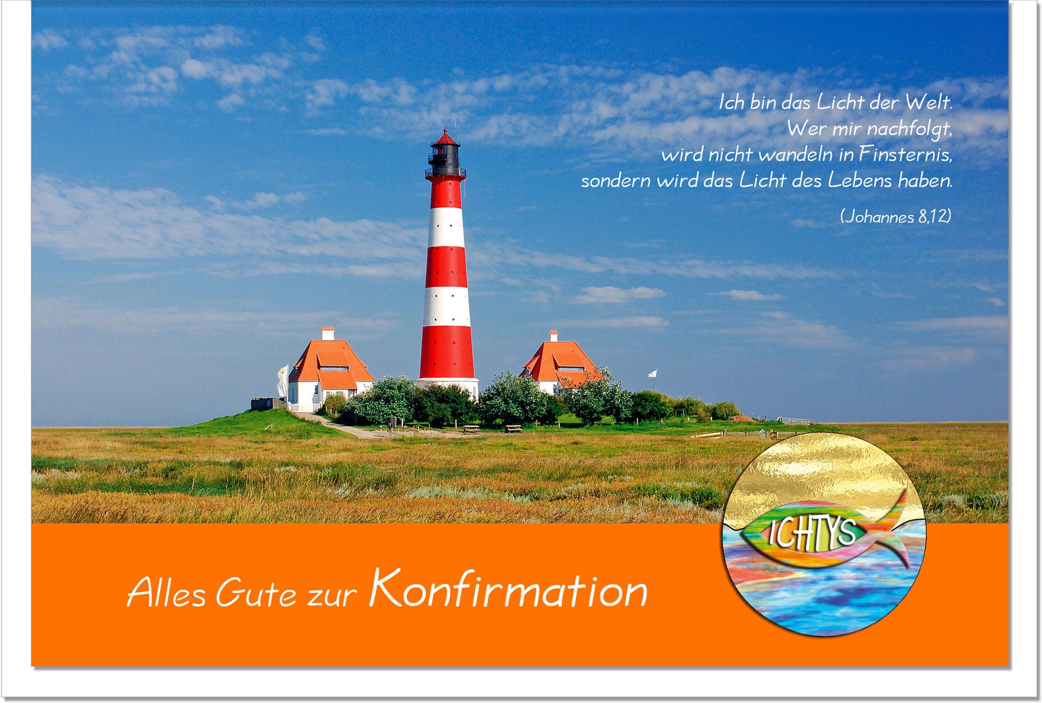 Konfirmationskarten / Grußkarten /Konfirmation Leuchtturm