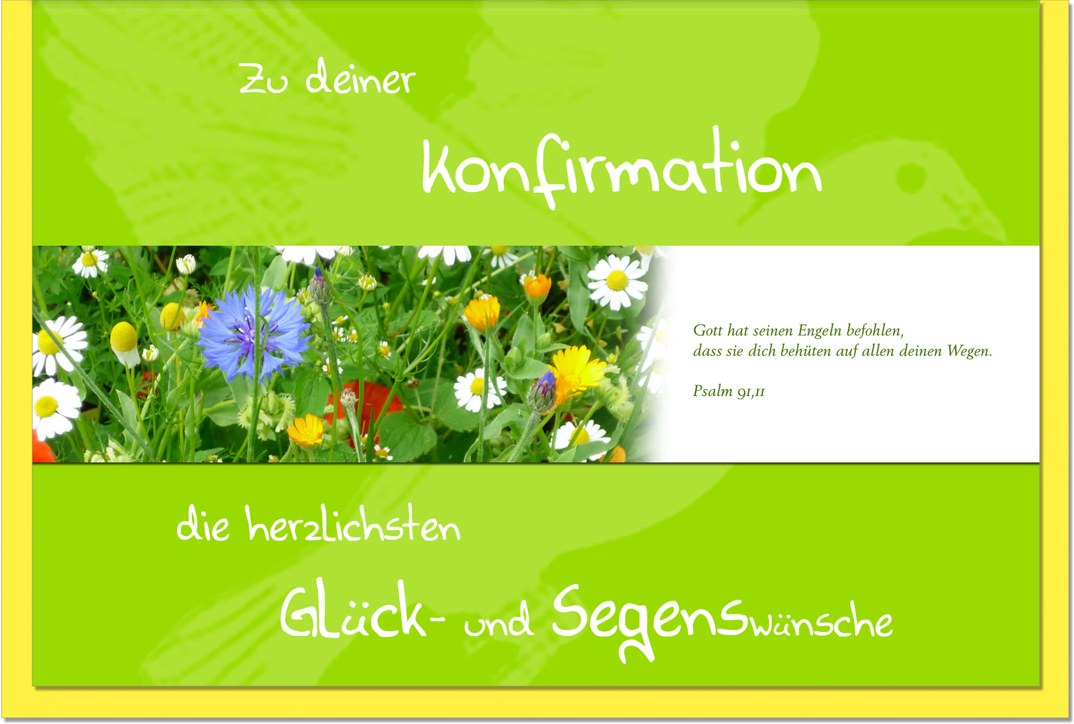 Konfirmationskarten / Grußkarten /Konfirmation Blumenwiese