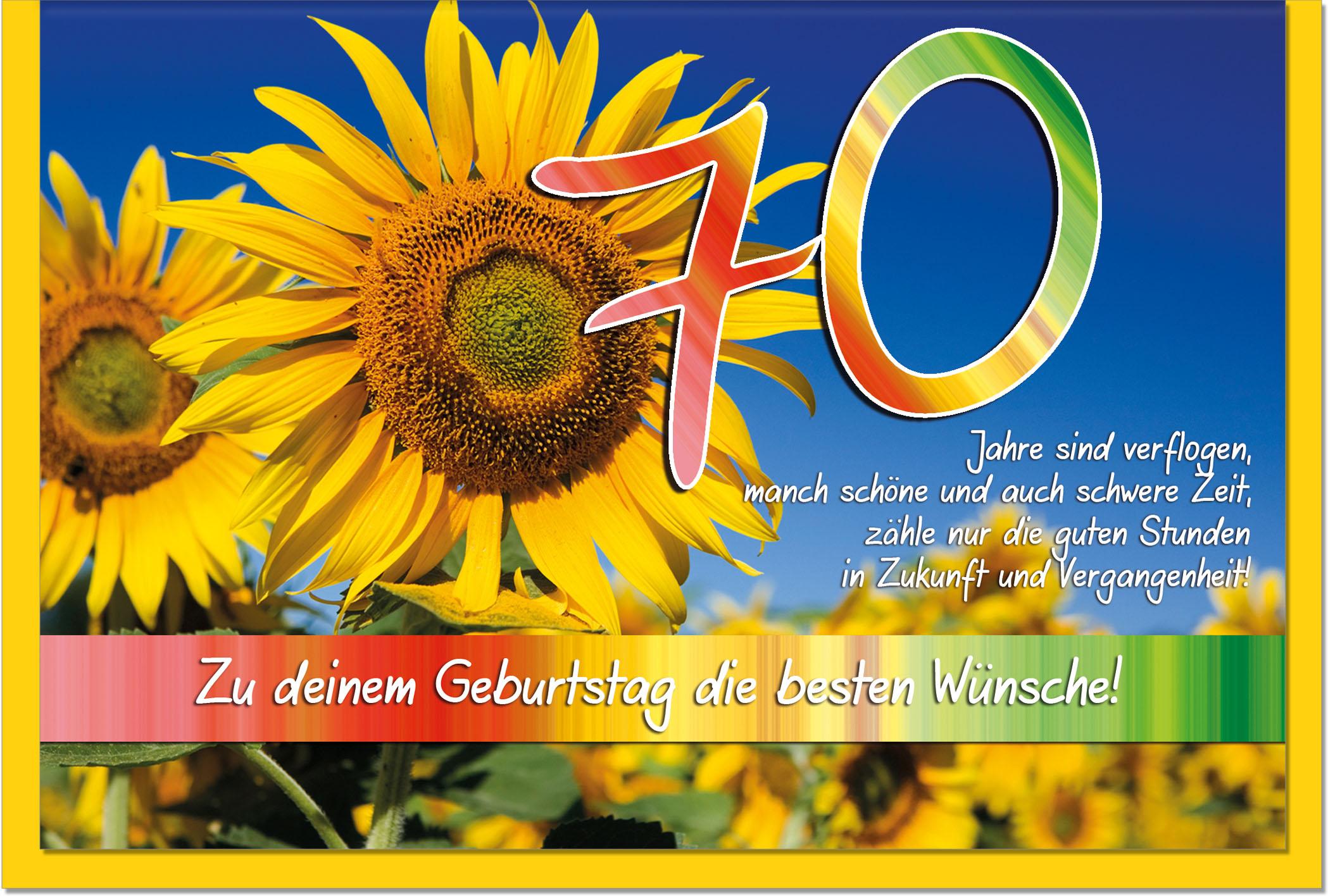 Zahlenkarten / Grußkarten /Zahlenkarte Sonnenblumen