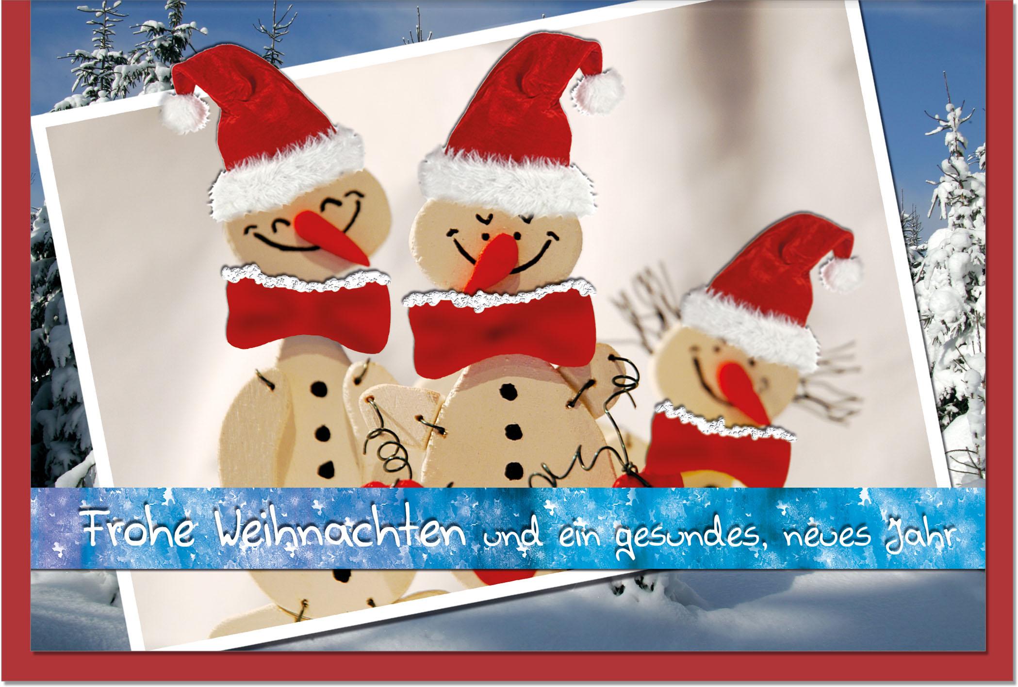 Weihnachtskarten / Grußkarten /Weihnachten Schneemänner