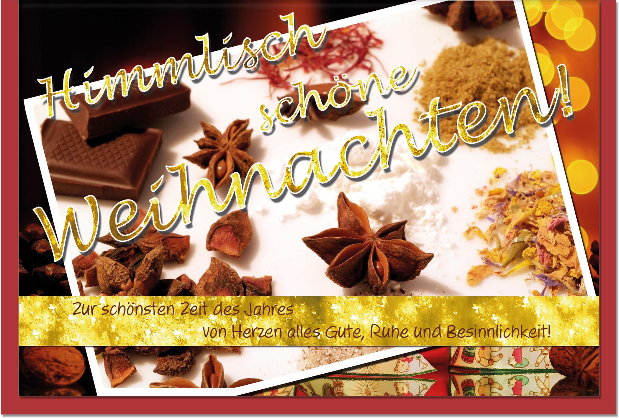 Weihnachtskarten / Grußkarten /Weihnachten Weihnachtliche Schokolade
